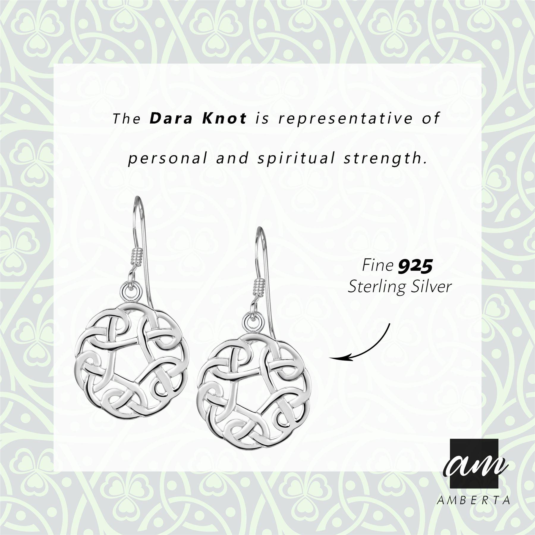 Amberta-925-Sterling-Silver-Celtic-Knot-Earrings-for-Women-Irish-Design miniature 22