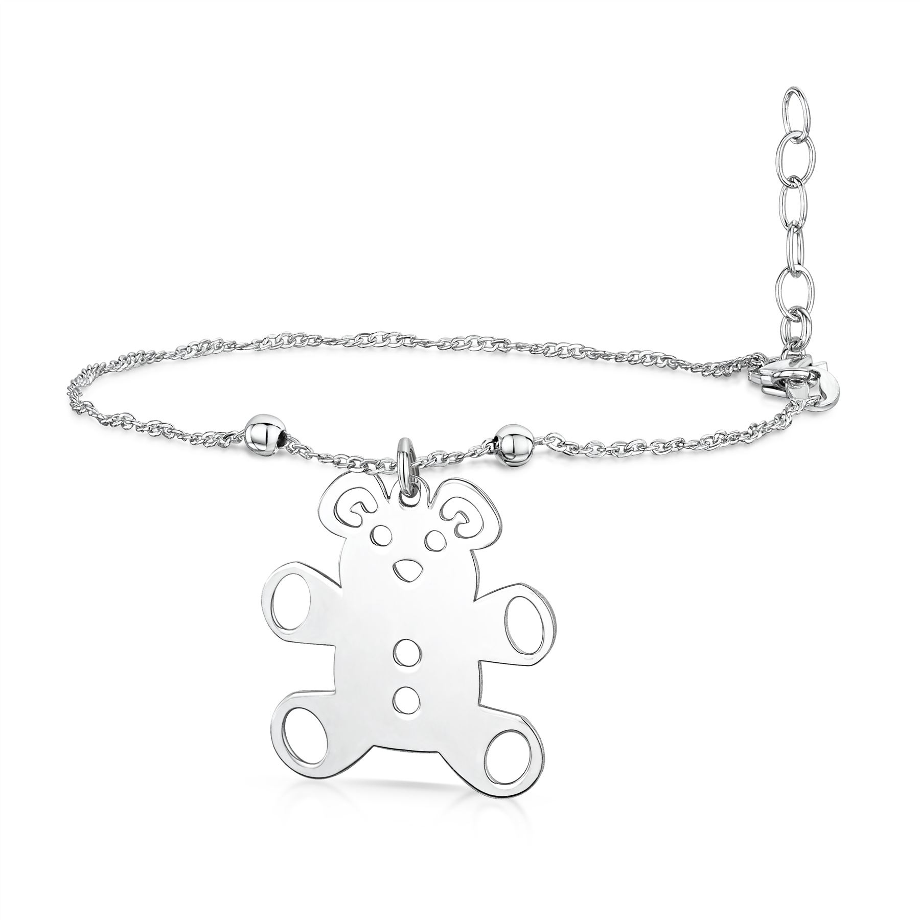 Amberta-Jewelry-925-Sterling-Silver-Adjustable-Anklet-for-Women-Made-in-Italy miniature 21