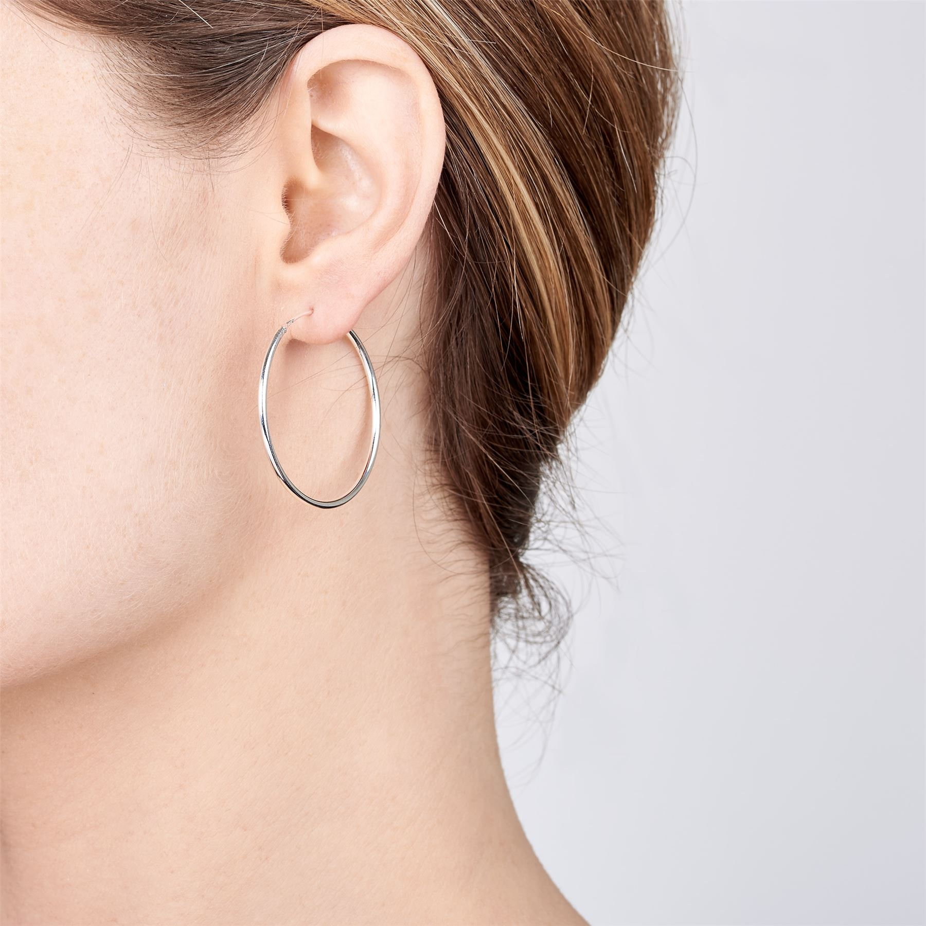 Amberta-Pendientes-para-Mujer-Aros-en-Plata-De-Ley-925-Autentica-Estilo-Clasico miniatura 28