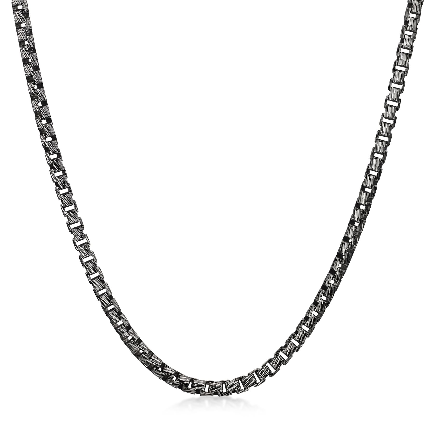 Amberta-925-Sterling-Silver-Link-Chain-Mens-Curb-Cuban-Necklace-ALL-SIZES-Italy thumbnail 17