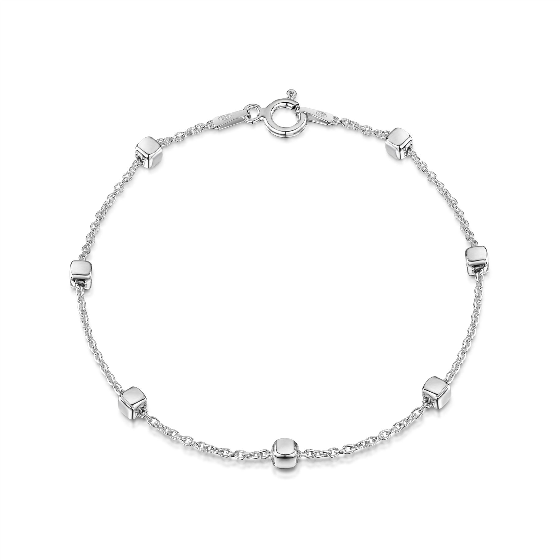 Amberta-Jewelry-Genuine-925-Sterling-Silver-Bracelet-Bangle-Chain-Made-in-Italy thumbnail 12