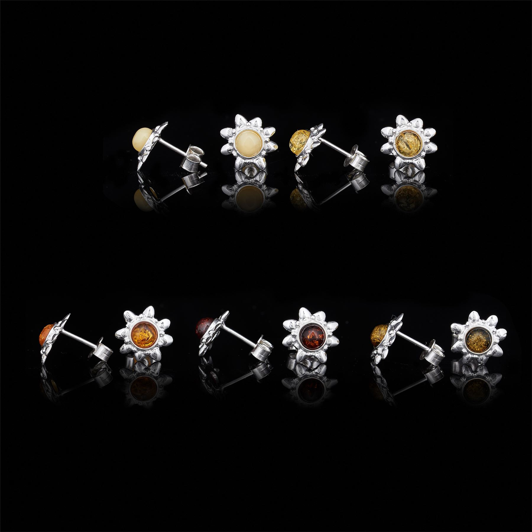 Amberta-Genuine-925-Sterling-Silver-Earrings-with-Natural-Baltic-Amber-Gemstone thumbnail 128