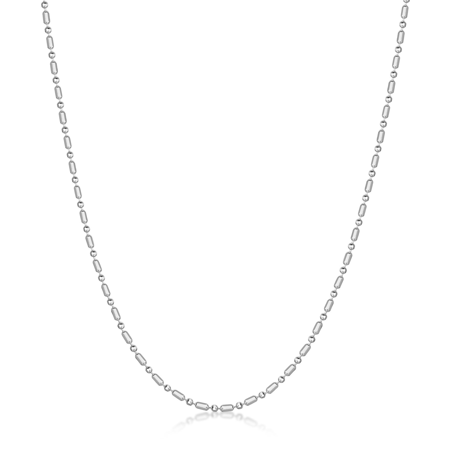 Amberta-Jewelry-Genuine-925-Sterling-Silver-Italian-Bead-Necklace-Ball-Chain thumbnail 7