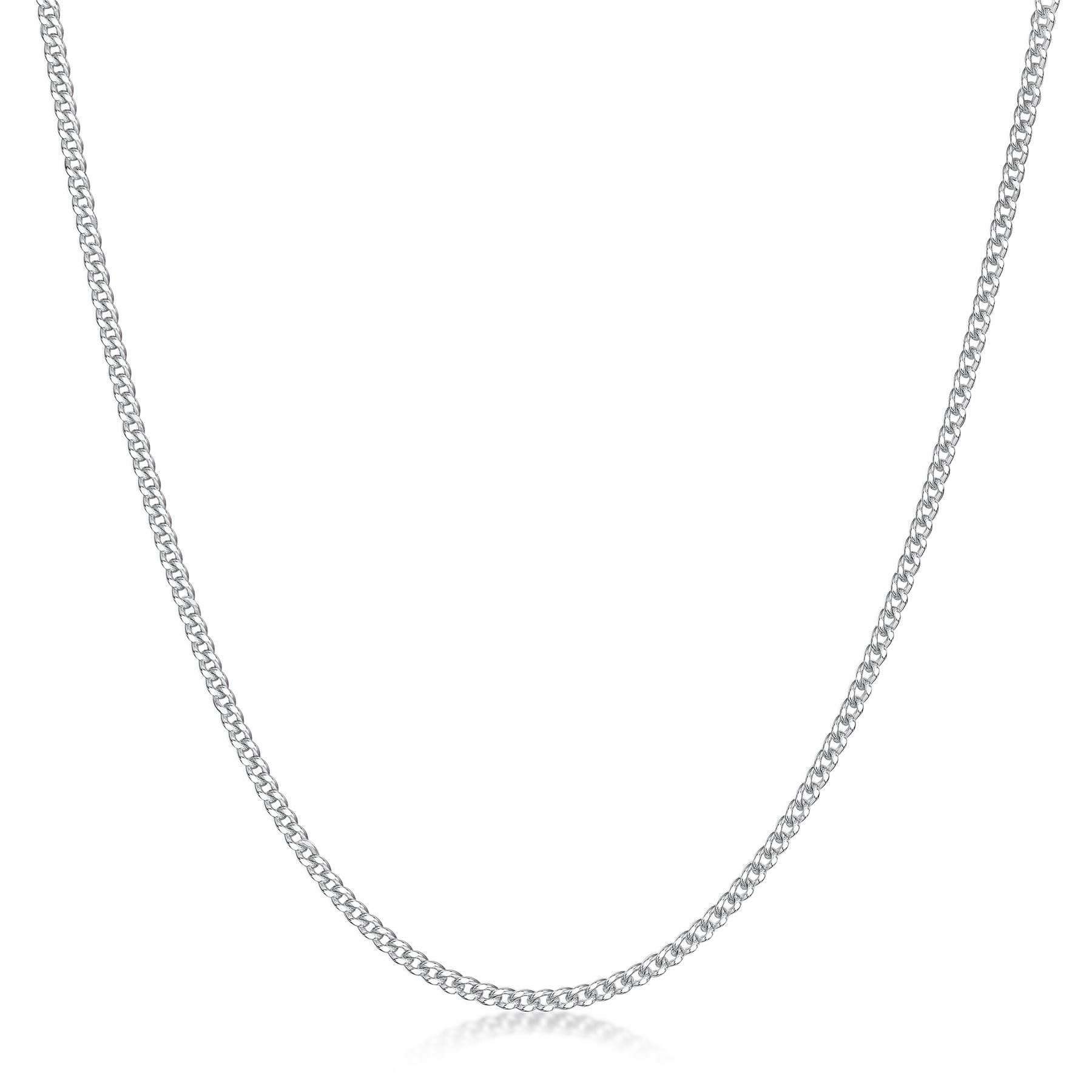 Amberta-Genuine-Real-925-Sterling-Silver-Long-Curb-Necklace-Chain-Made-in-Italy thumbnail 9