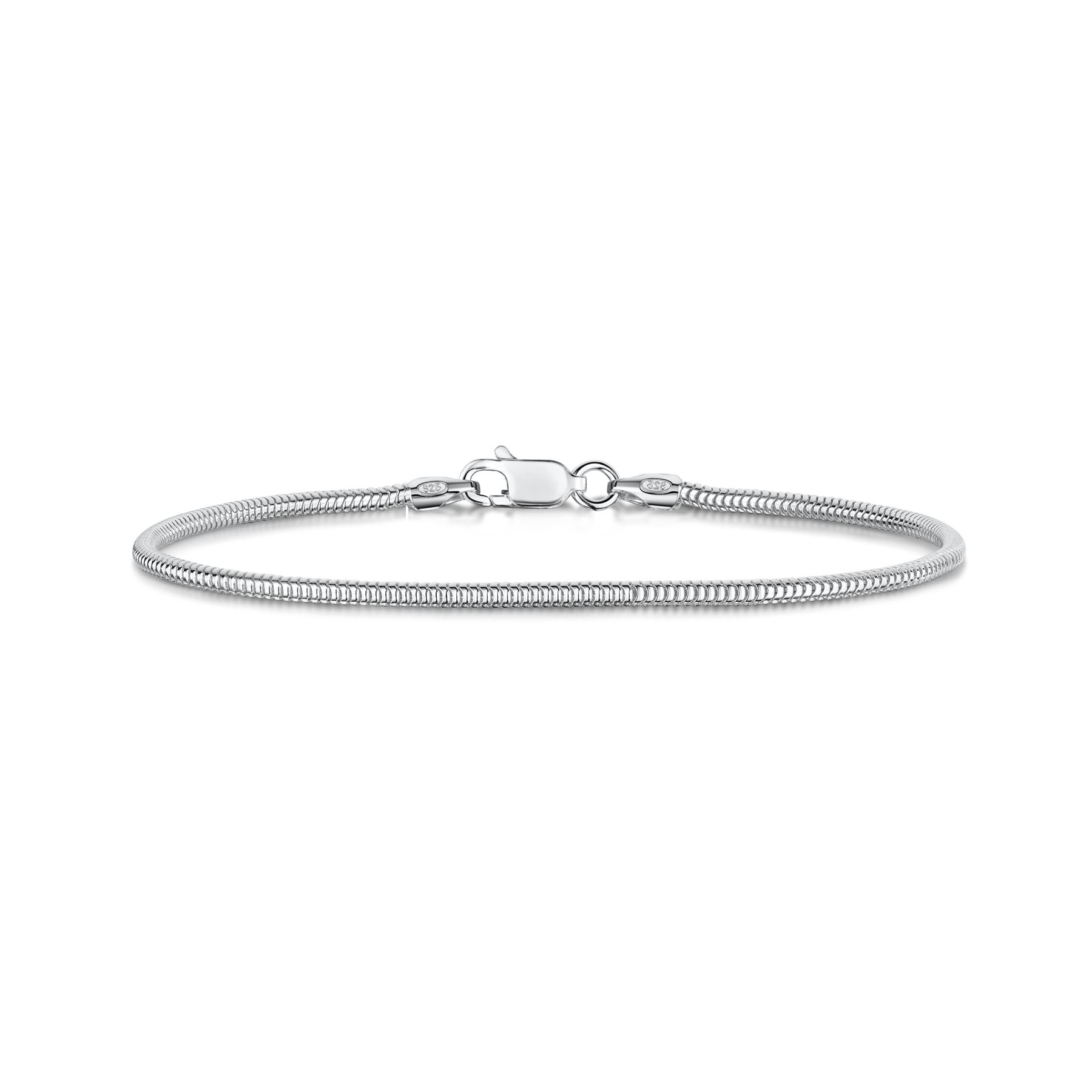 Amberta-Bijoux-Bracelet-en-Vrai-Argent-Sterling-925-Chaine-pour-Femme-a-la-Mode thumbnail 39