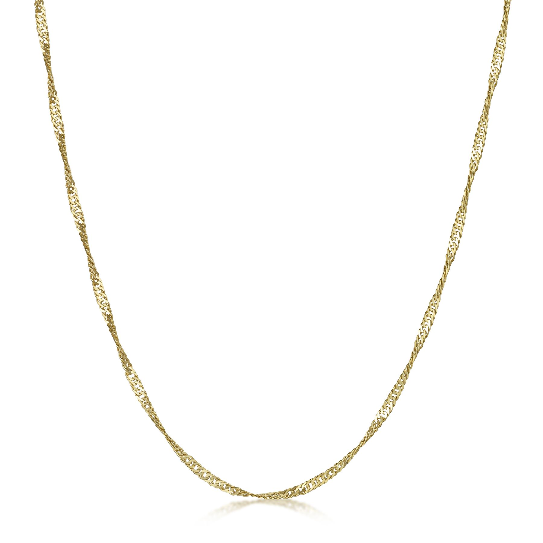 Amberta-Genuine-Gold-Plated-on-Real-925-Sterling-Silver-Necklace-Chain-Italy miniatura 36