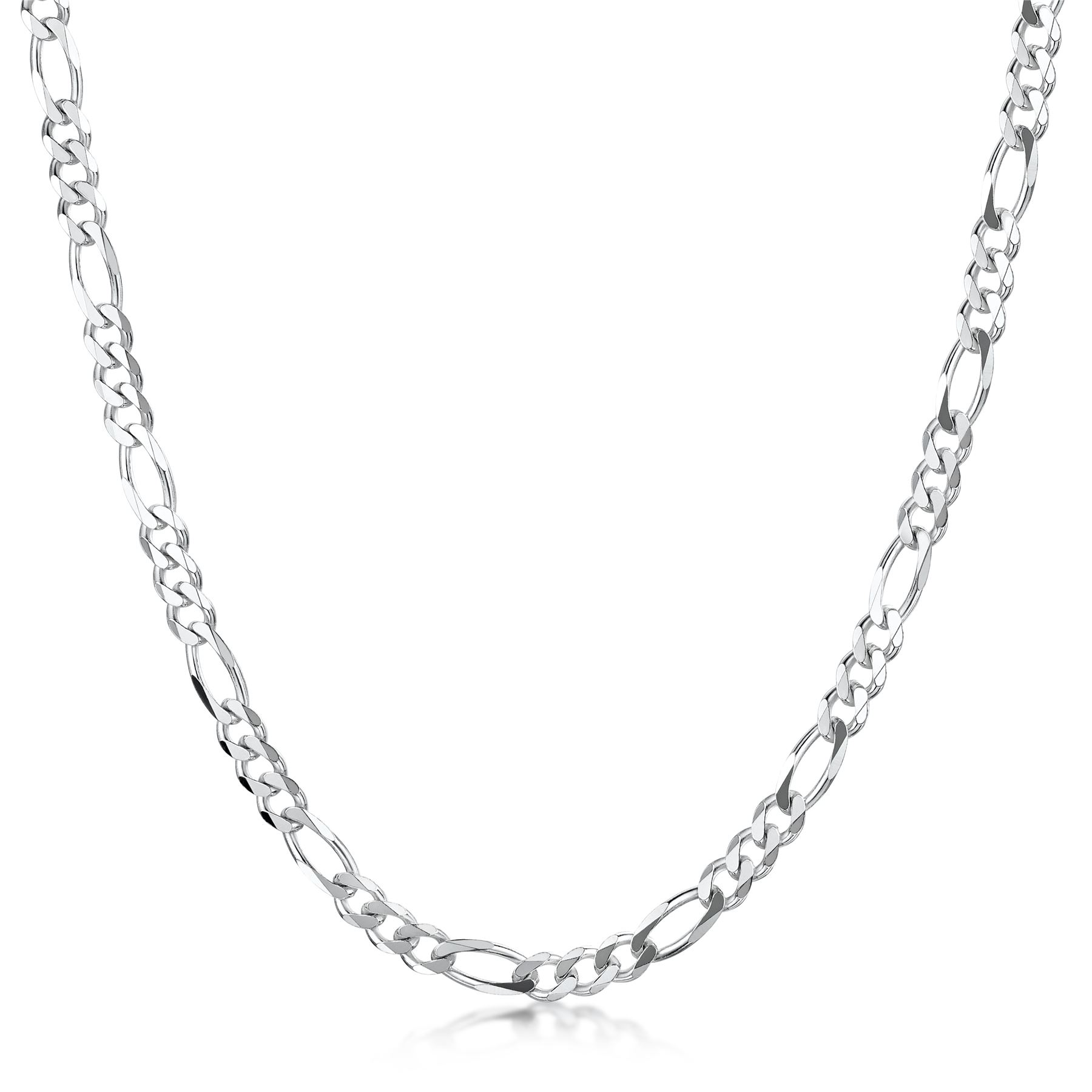 Amberta-925-Sterling-Silver-Link-Chain-Mens-Curb-Cuban-Necklace-ALL-SIZES-Italy thumbnail 31