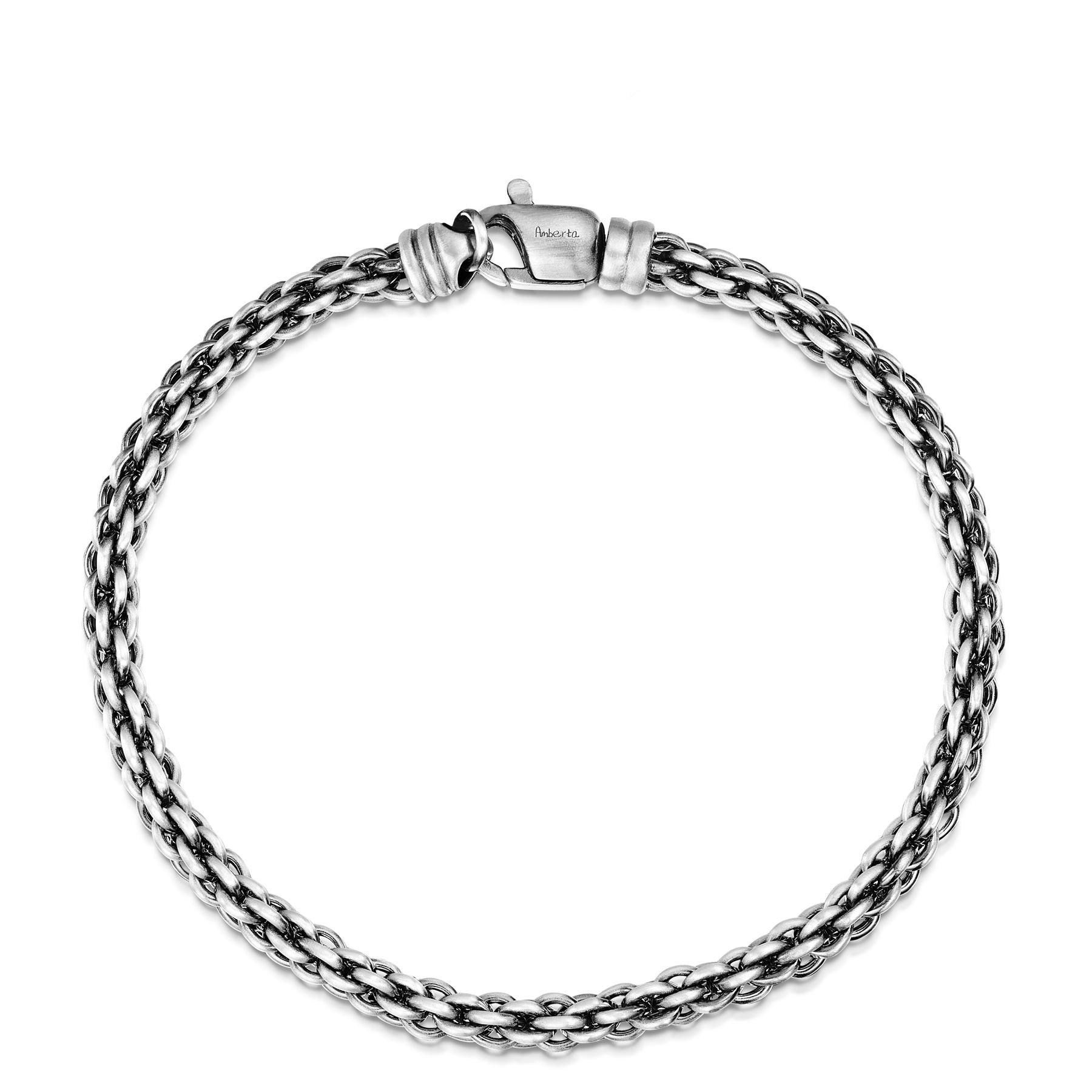 Amberta-Real-925-Sterling-Silver-Male-Arm-Chain-Chunky-Bracelet-for-Men-Italy thumbnail 8