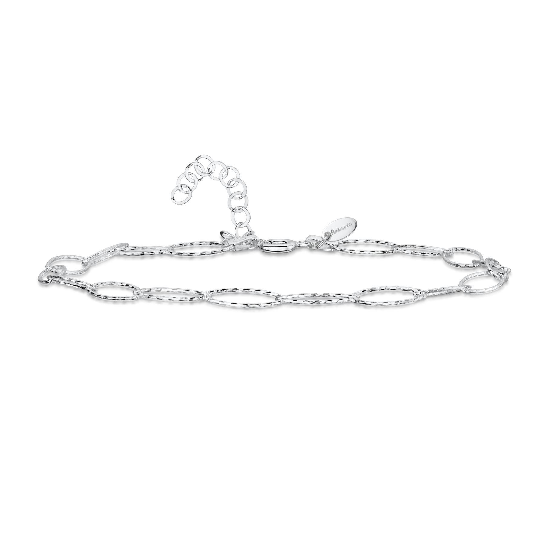 Amberta-Jewelry-925-Sterling-Silver-Adjustable-Anklet-Foot-Bracelet-for-Women miniature 53