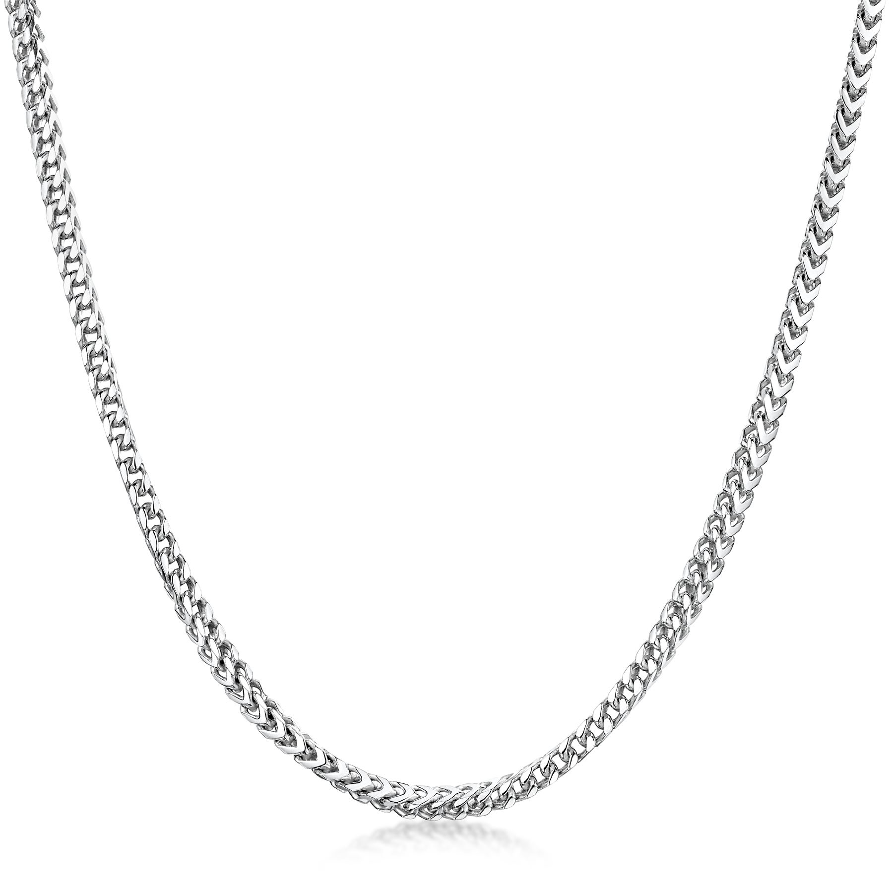 Amberta-925-Sterling-Silver-Link-Chain-Mens-Curb-Cuban-Necklace-ALL-SIZES-Italy thumbnail 3