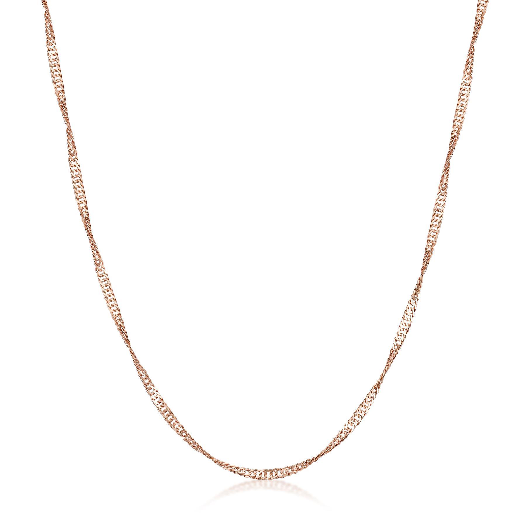 Amberta-Collar-en-Fina-Plata-De-Ley-925-y-Chapado-Oro-Rosa-14k-Cadena-para-Mujer miniatura 40