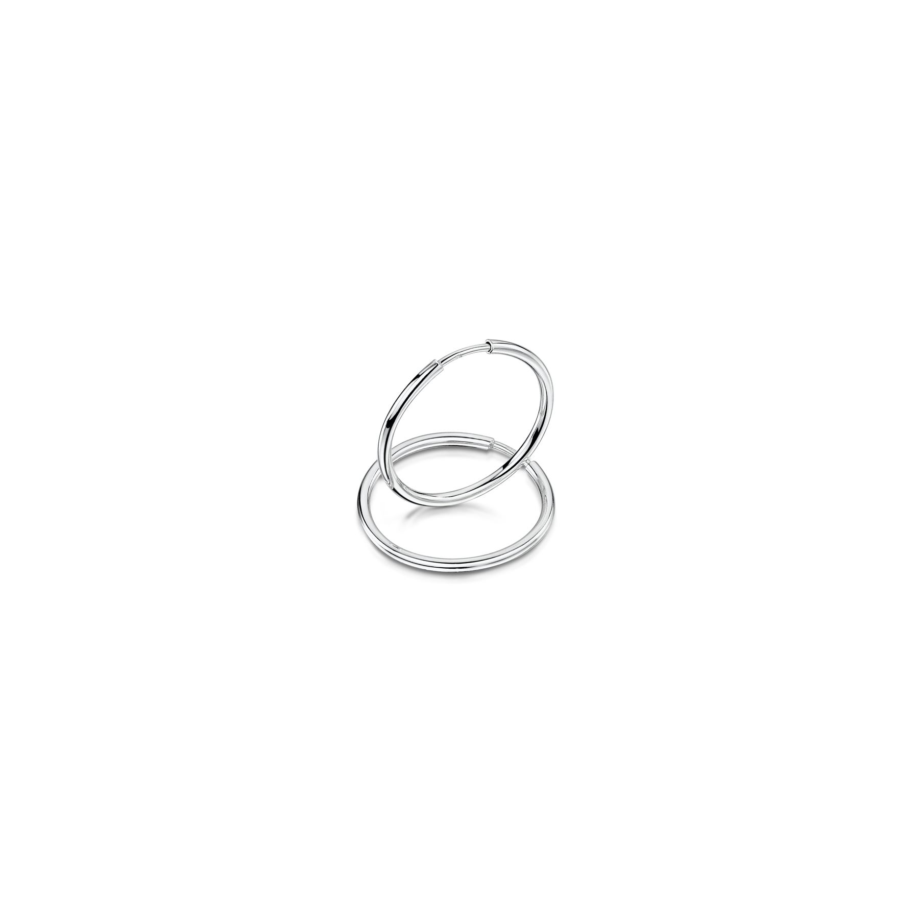 Amberta-Pendientes-para-Mujer-Aros-en-Plata-De-Ley-925-Autentica-Estilo-Clasico miniatura 19