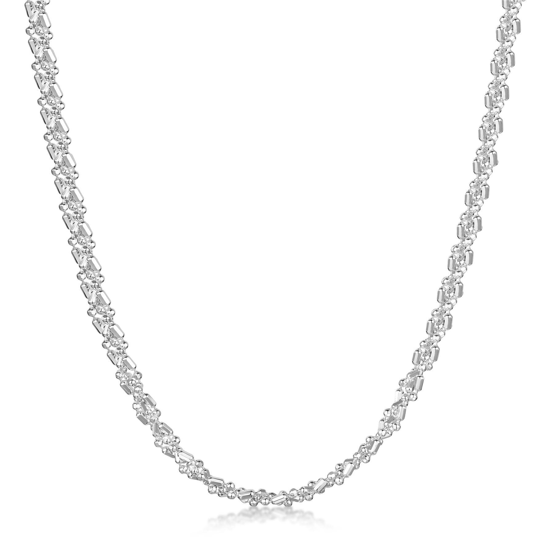 Amberta-Collar-en-Autentica-Plata-De-Ley-925-Cadena-de-Bola-Elegante-para-Mujer miniatura 15