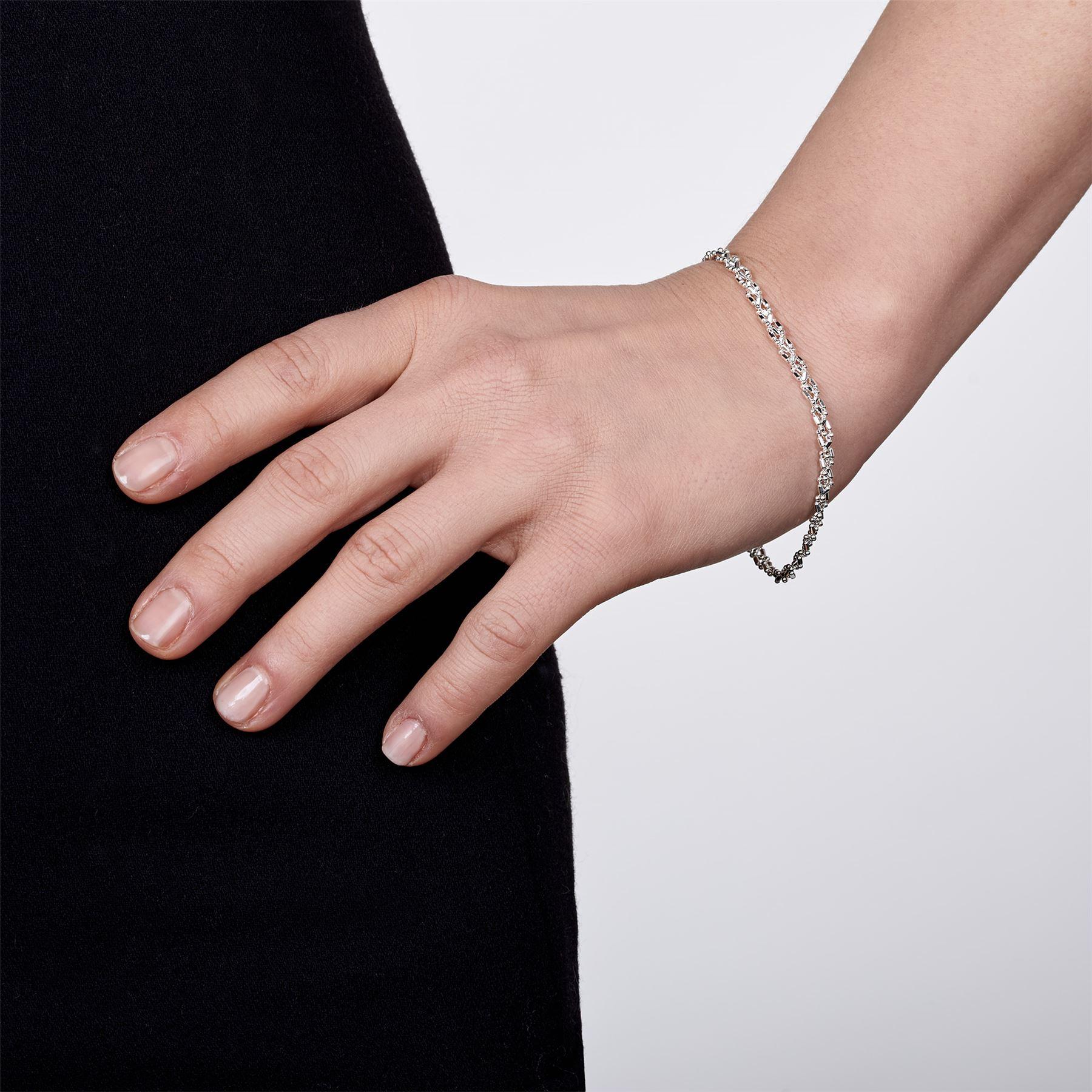 Amberta-Bijoux-Bracelet-en-Vrai-Argent-Sterling-925-Chaine-pour-Femme-a-la-Mode thumbnail 83