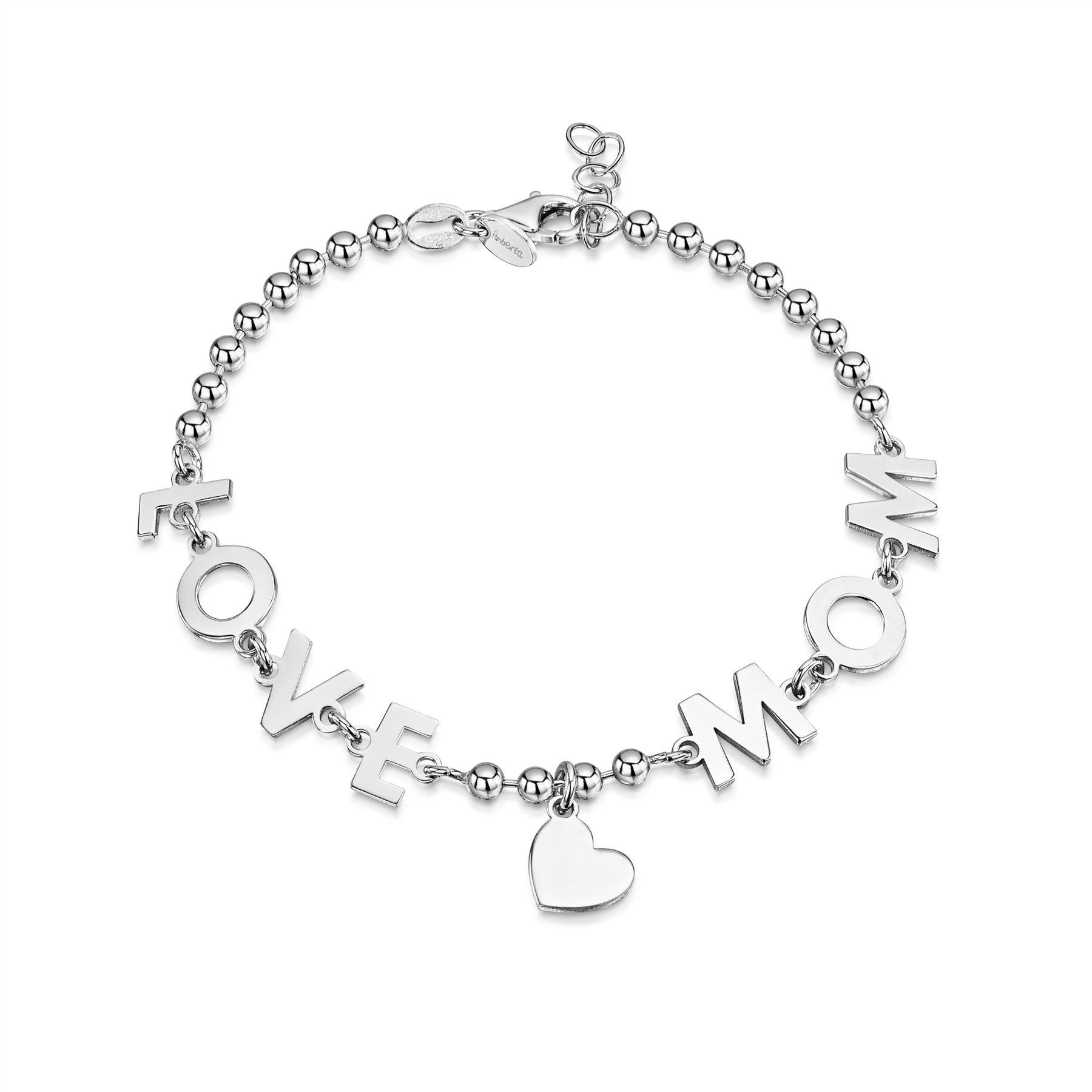 Amberta-Jewelry-925-Sterling-Silver-Adjustable-Bracelet-Italian-Bangle-for-Women miniature 81