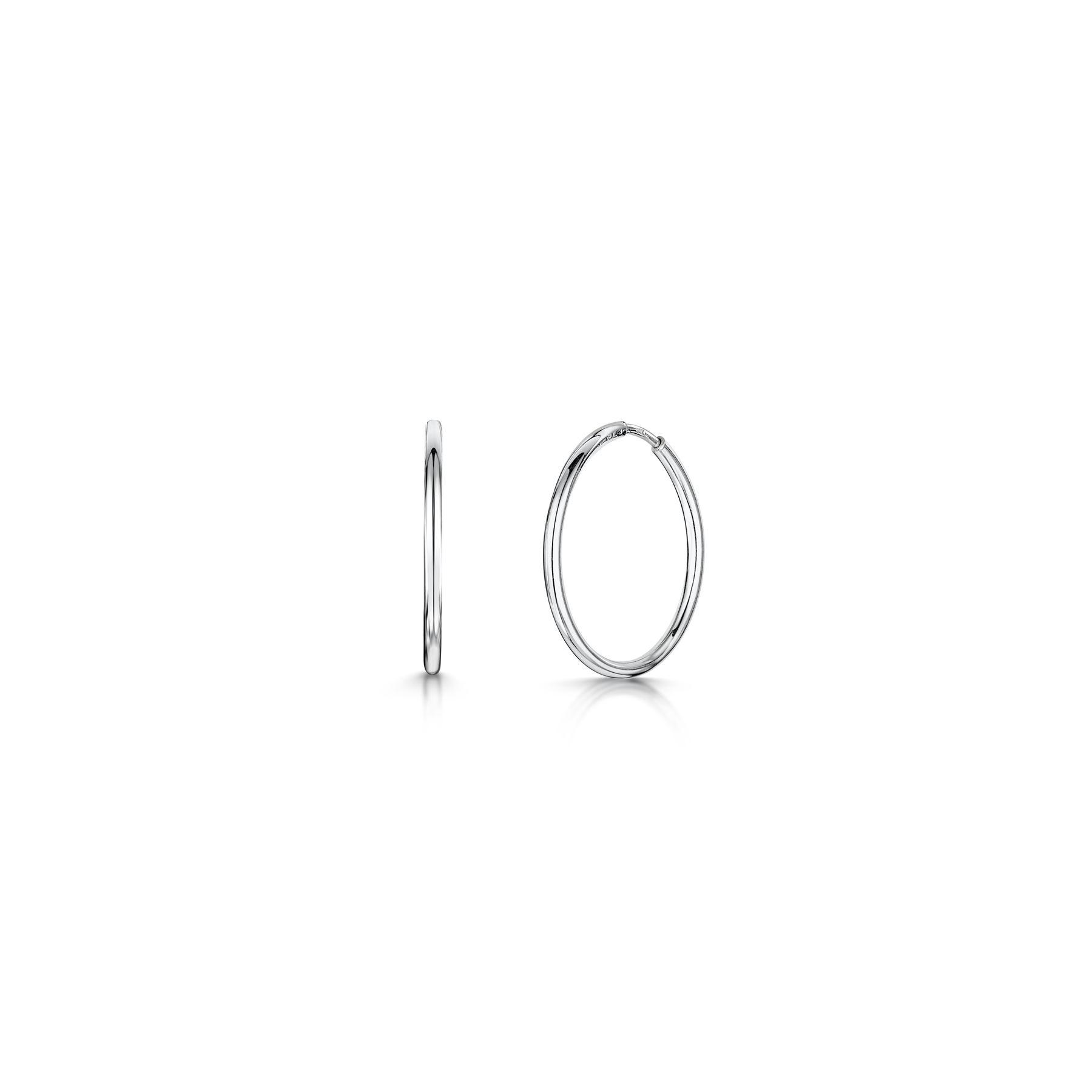 Amberta-Pendientes-para-Mujer-Aros-en-Plata-De-Ley-925-Autentica-Estilo-Clasico miniatura 18