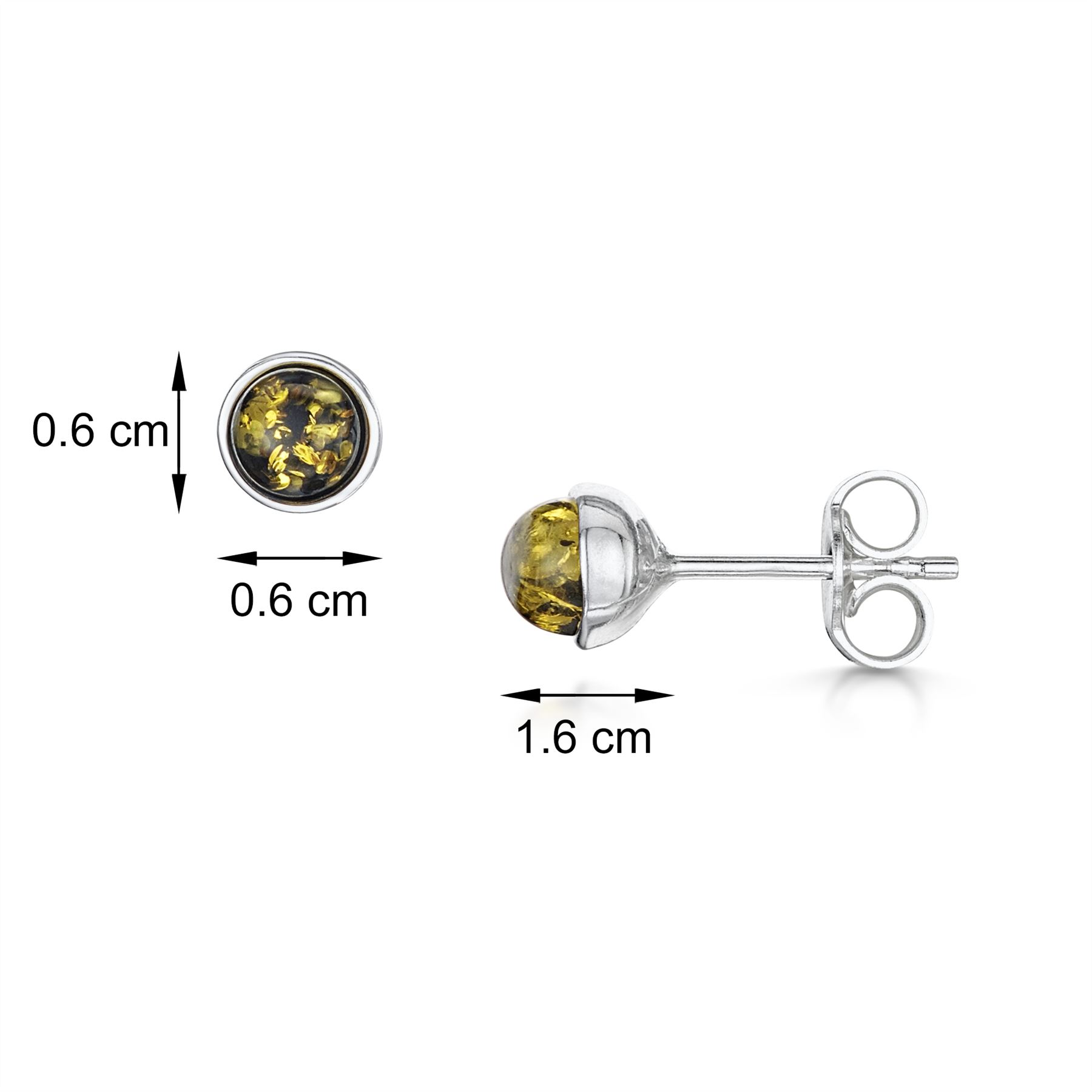 Amberta-Genuine-925-Sterling-Silver-Earrings-with-Natural-Baltic-Amber-Gemstone thumbnail 96
