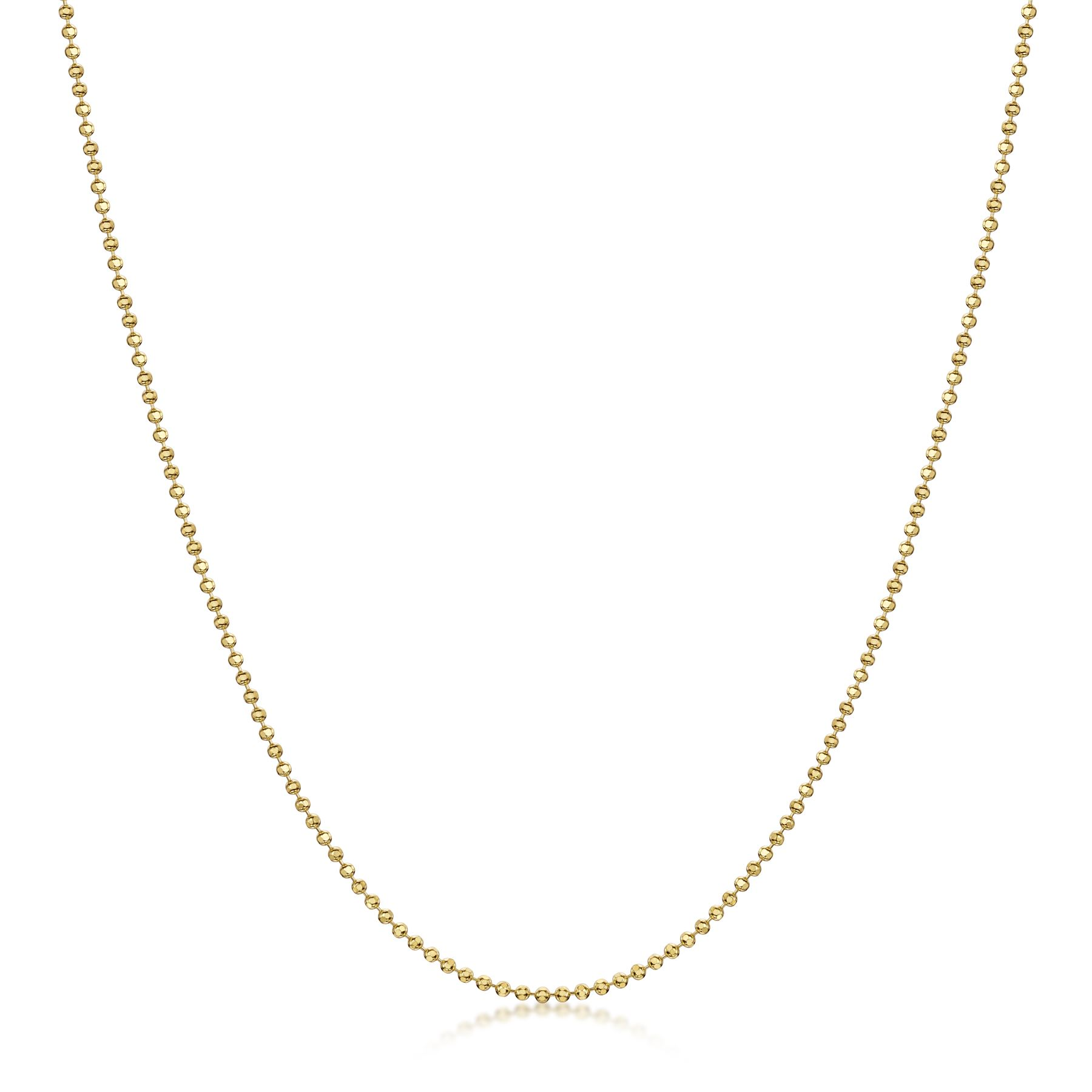 Amberta-Genuine-Gold-Plated-on-Real-925-Sterling-Silver-Necklace-Chain-Italy miniatura 7
