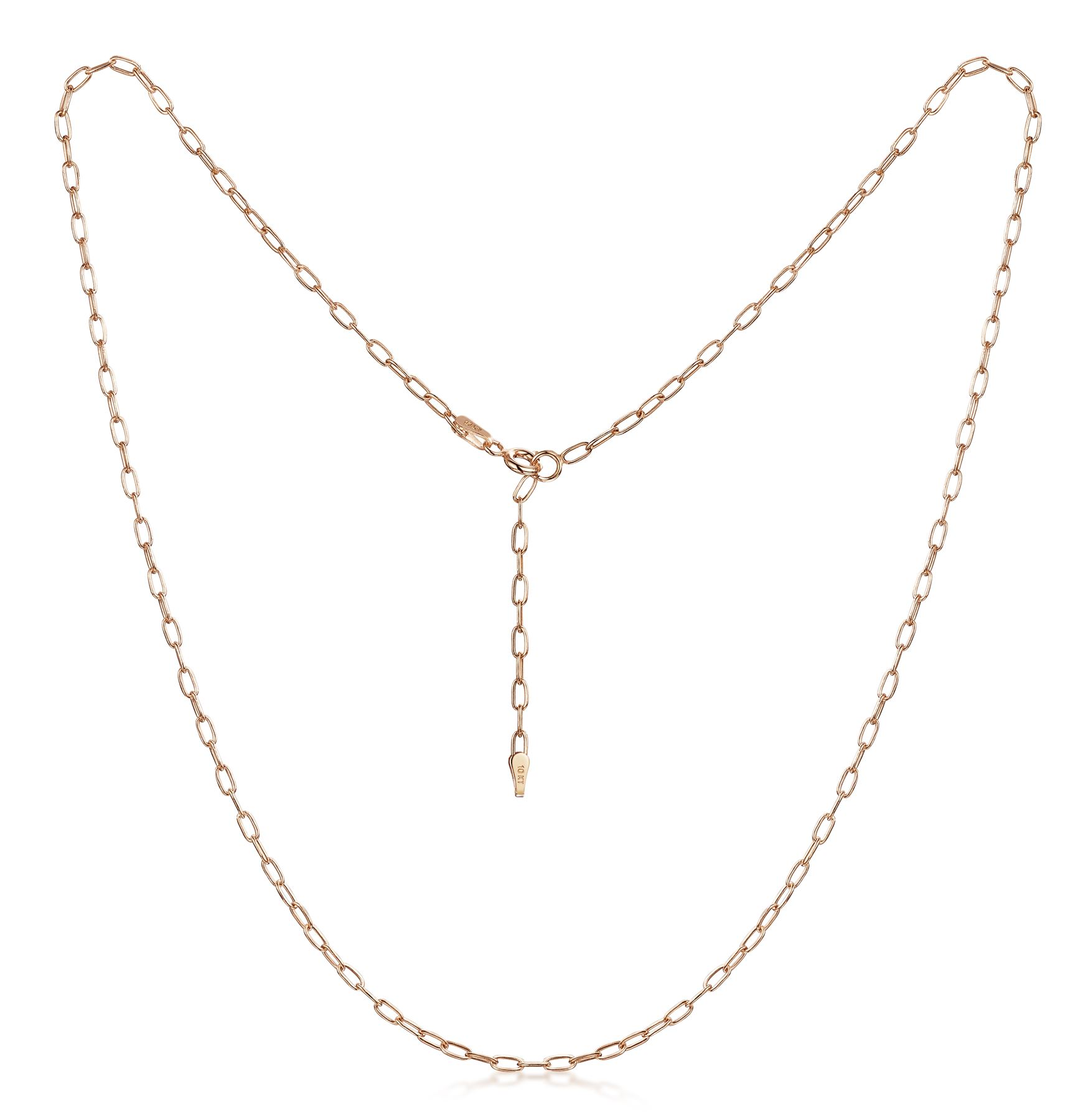 Amberta-Genuine-Solid-10k-Gold-Chain-Adjustable-Necklace-for-Women-and-Men thumbnail 10