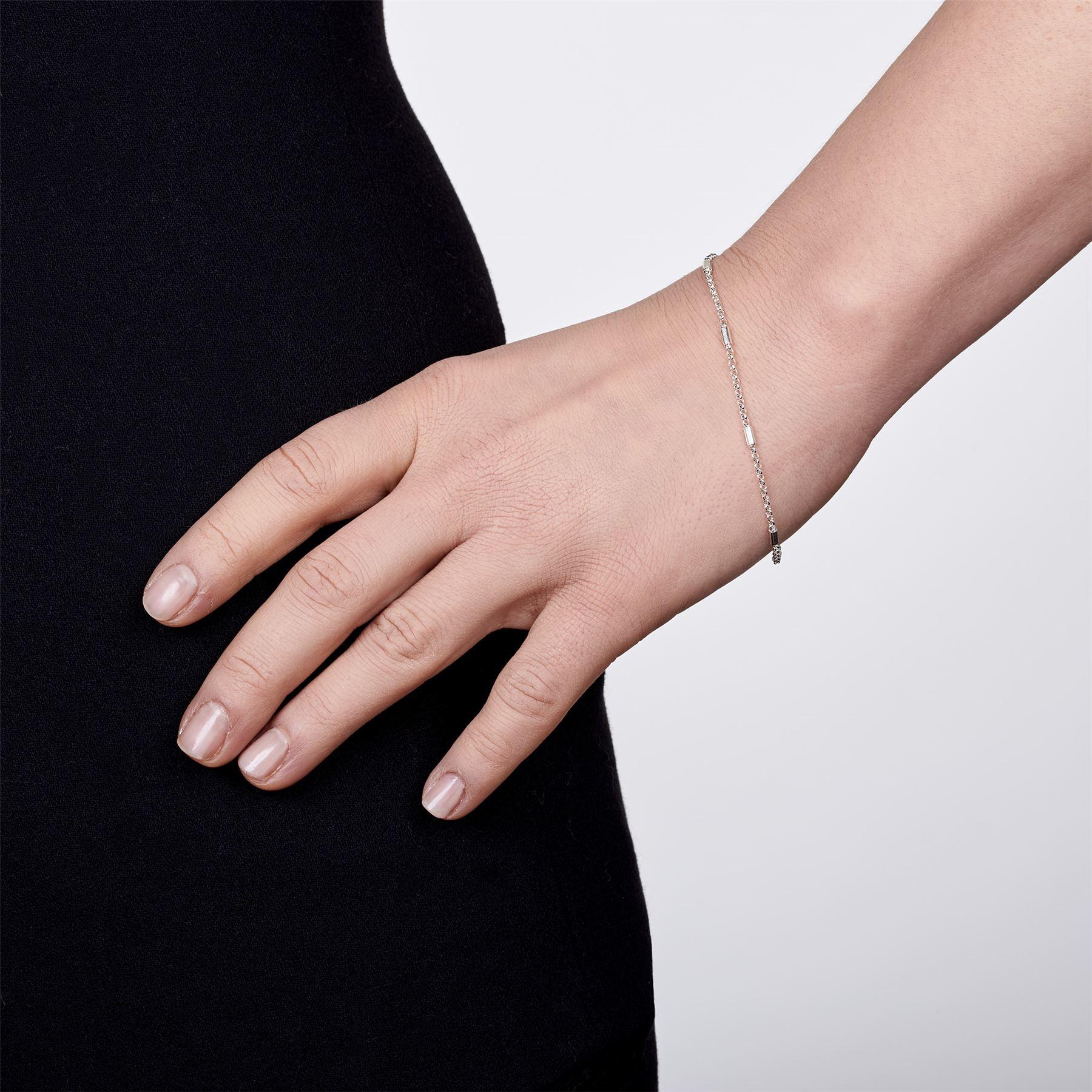 Amberta-Bijoux-Bracelet-en-Vrai-Argent-Sterling-925-Chaine-pour-Femme-a-la-Mode thumbnail 35
