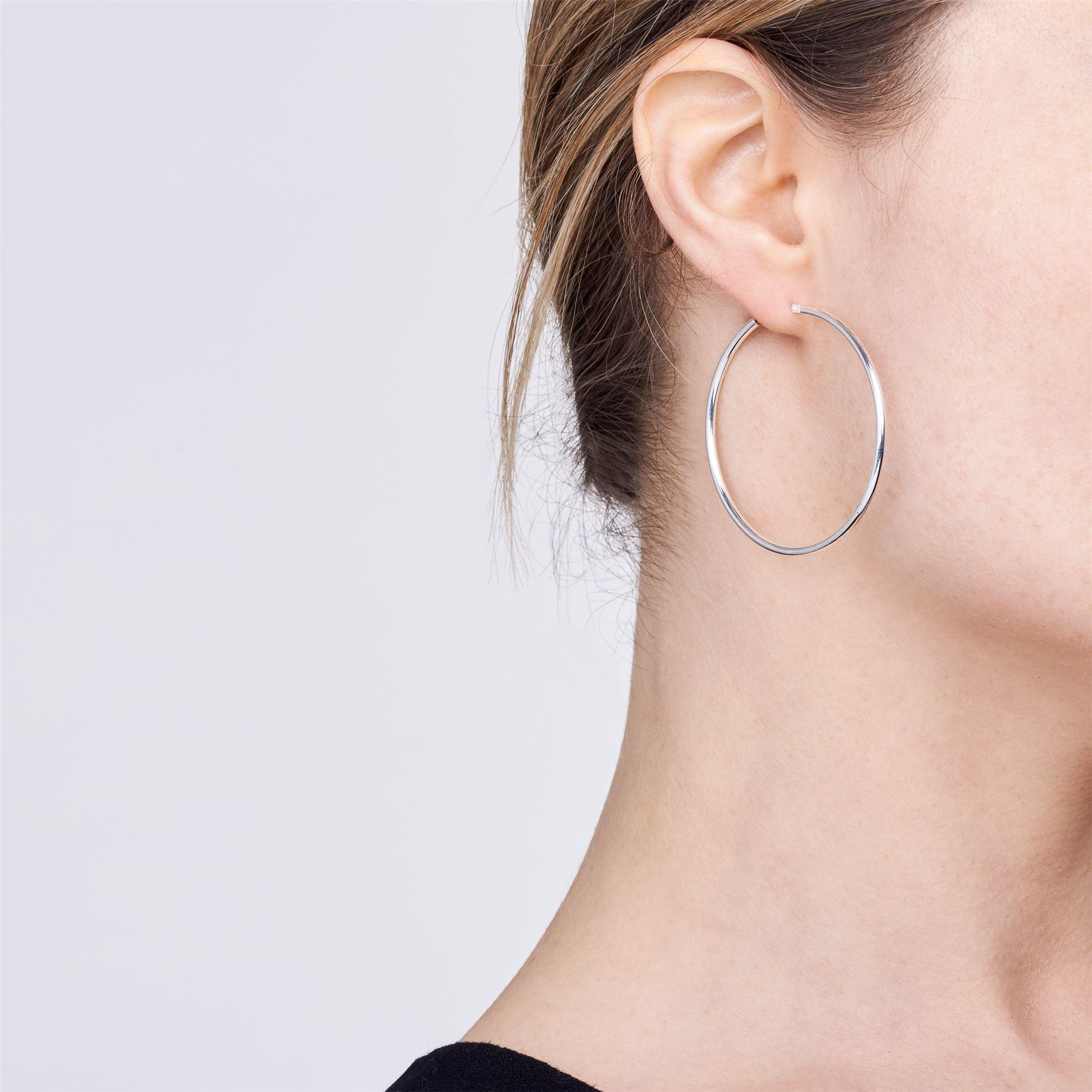 Amberta-Pendientes-para-Mujer-Aros-en-Plata-De-Ley-925-Autentica-Estilo-Clasico miniatura 39