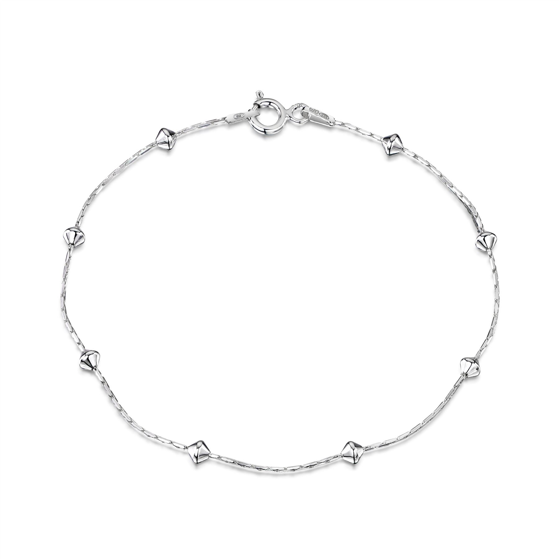 Amberta-Jewelry-Genuine-925-Sterling-Silver-Bracelet-Bangle-Chain-Made-in-Italy thumbnail 2