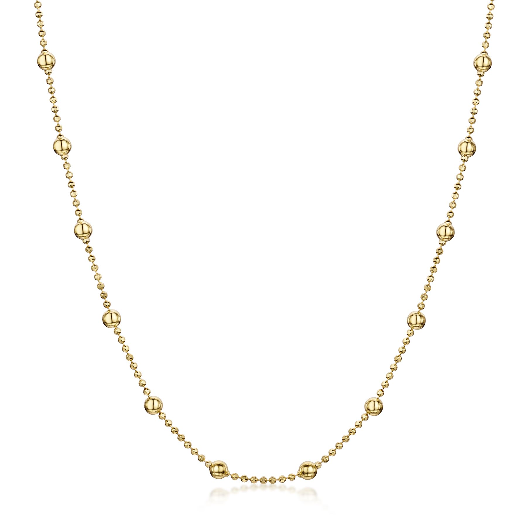 Amberta-Genuine-Gold-Plated-on-Real-925-Sterling-Silver-Necklace-Chain-Italy miniatura 48