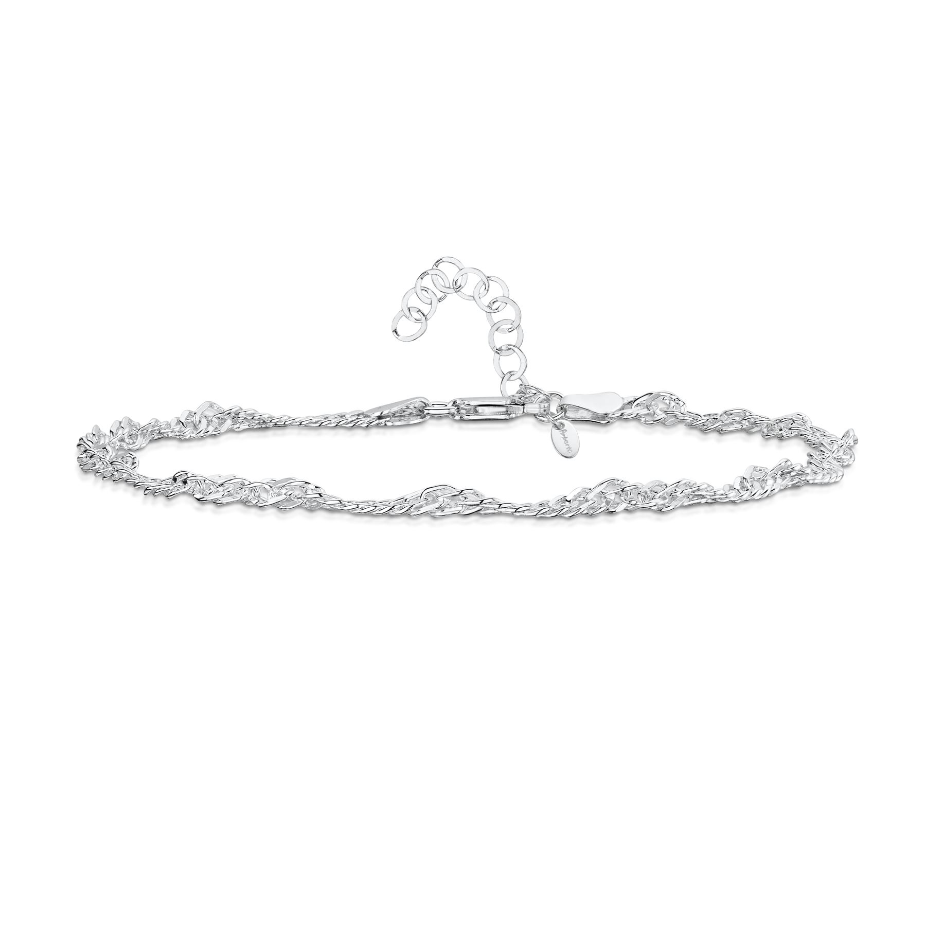 Amberta-Jewelry-925-Sterling-Silver-Adjustable-Anklet-Foot-Bracelet-for-Women miniature 48