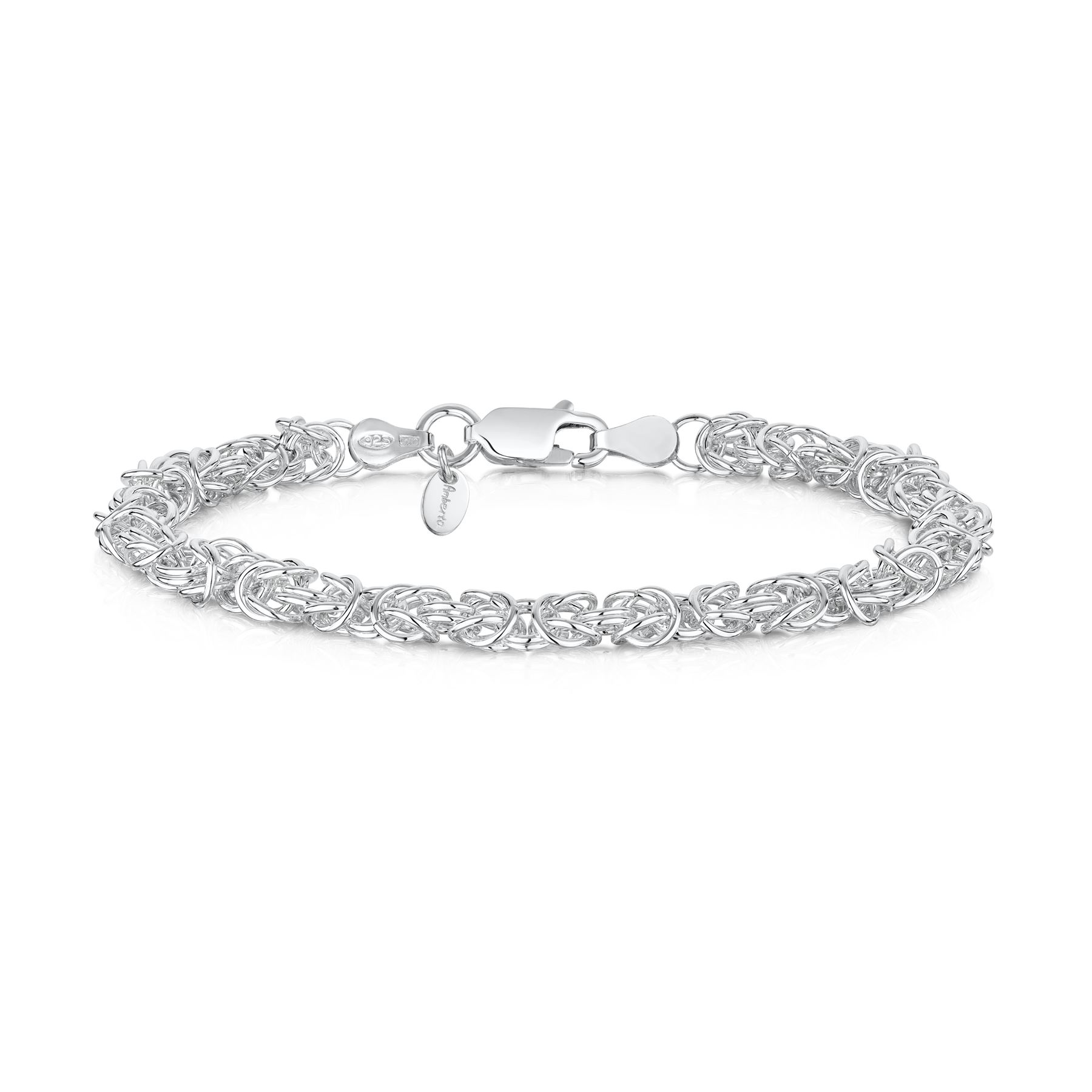 Amberta-Genuine-Real-925-Sterling-Silver-Chain-Bracelet-for-Women-from-Italy miniature 24