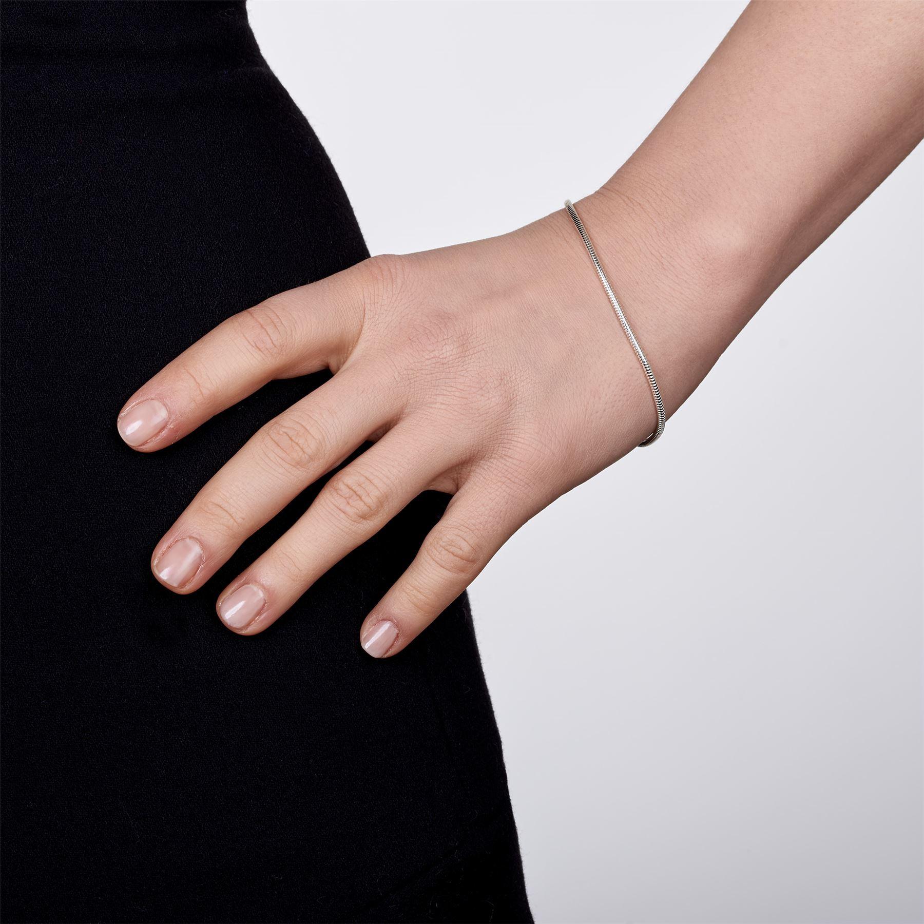 Amberta-Bijoux-Bracelet-en-Vrai-Argent-Sterling-925-Chaine-pour-Femme-a-la-Mode thumbnail 40