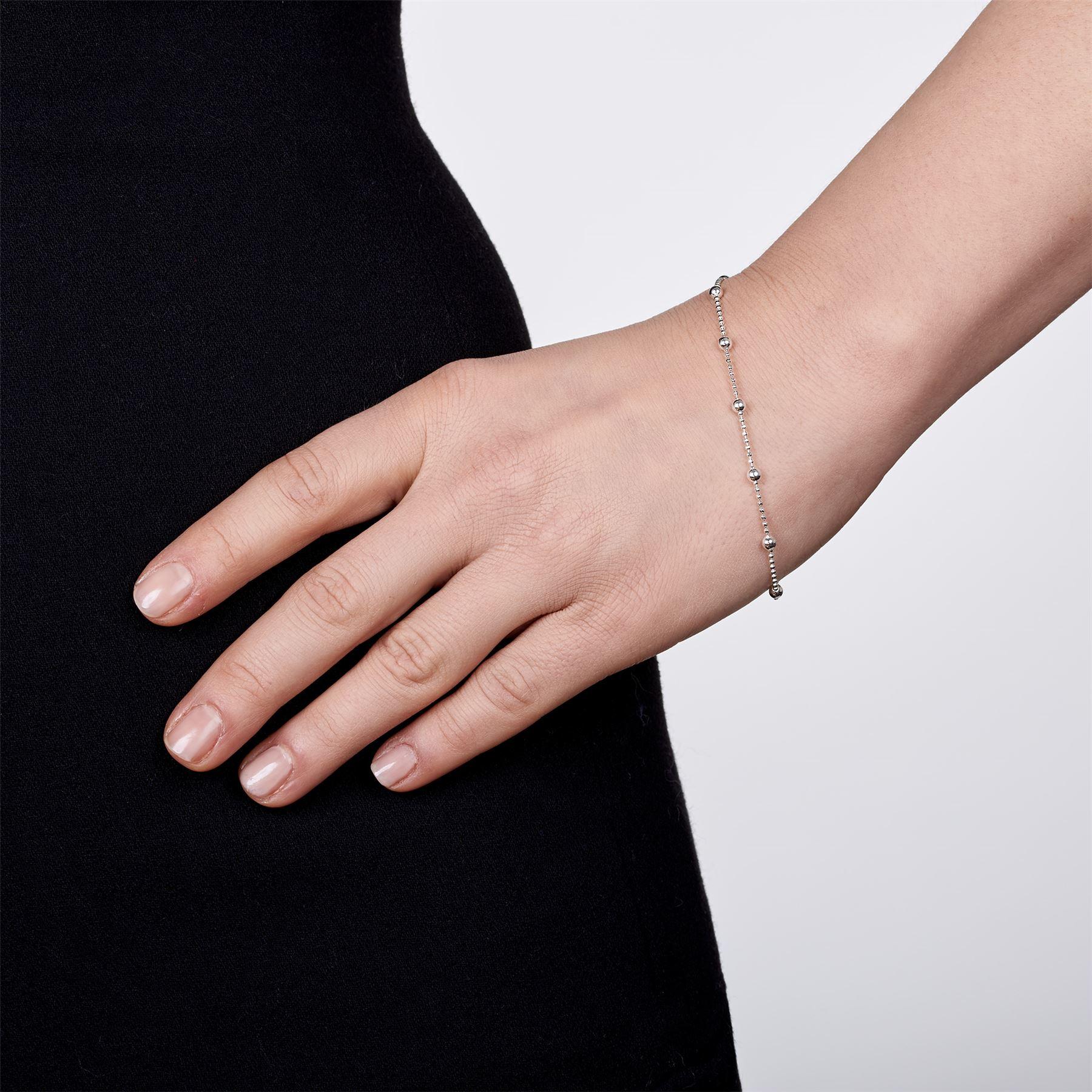 Amberta-Bijoux-Bracelet-en-Vrai-Argent-Sterling-925-Chaine-pour-Femme-a-la-Mode thumbnail 10