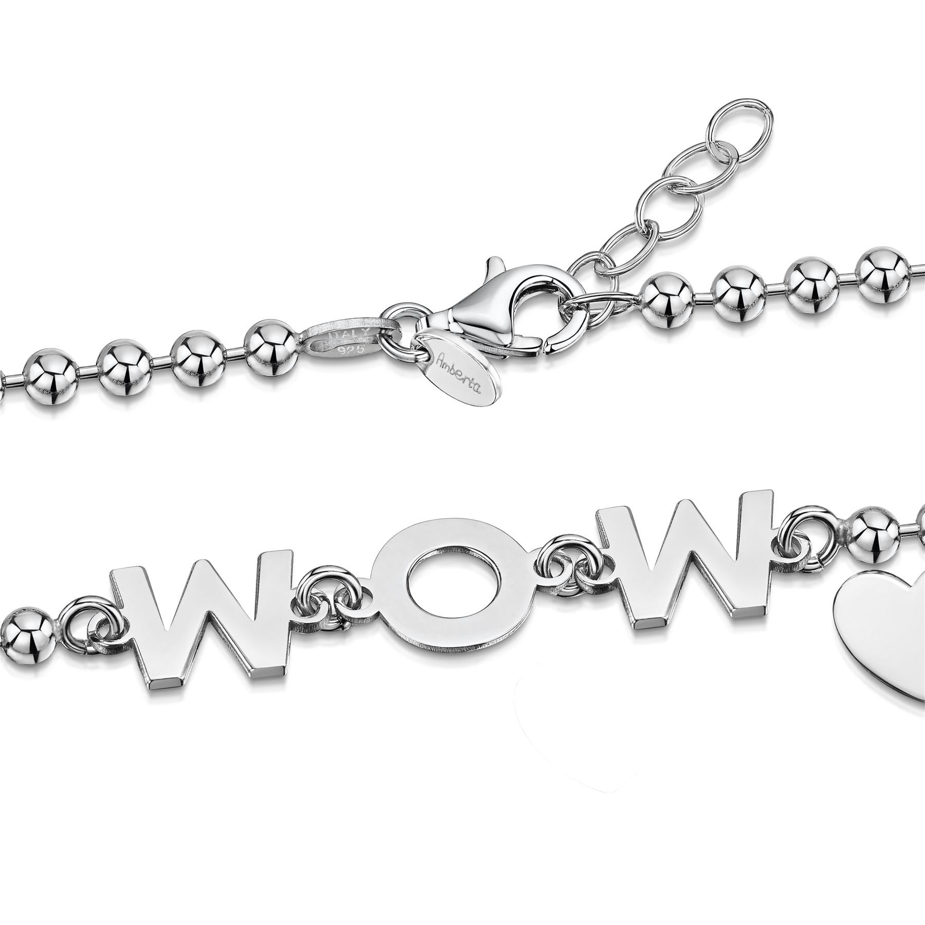 Amberta-Jewelry-925-Sterling-Silver-Adjustable-Bracelet-Italian-Bangle-for-Women miniature 83