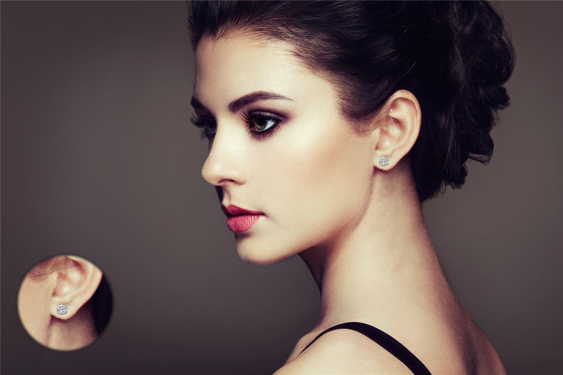 Amberta-925-Sterling-Silver-Celtic-Knot-Earrings-for-Women-Irish-Design miniature 5