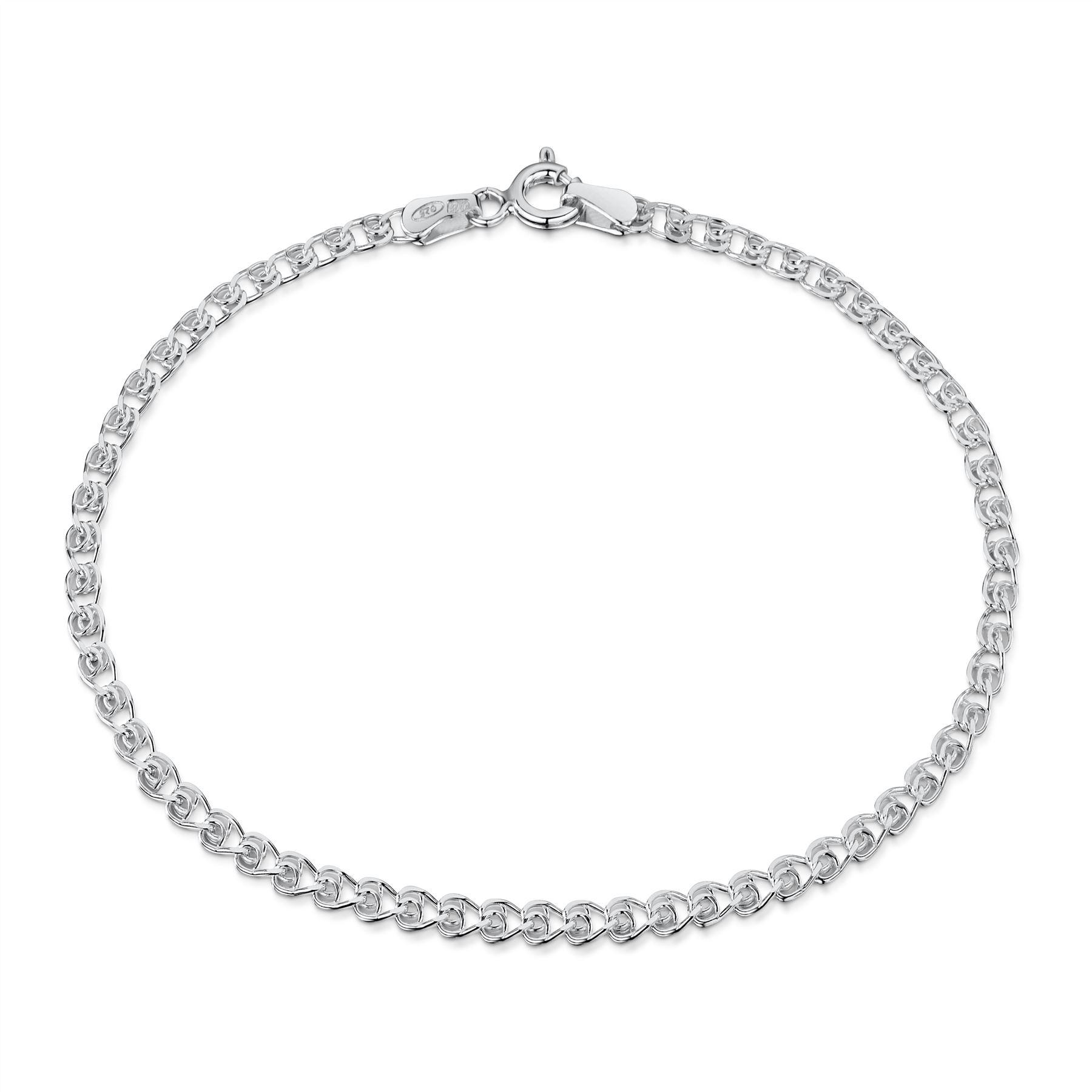 Amberta-Bijoux-Bracelet-en-Vrai-Argent-Sterling-925-Chaine-pour-Femme-a-la-Mode thumbnail 69