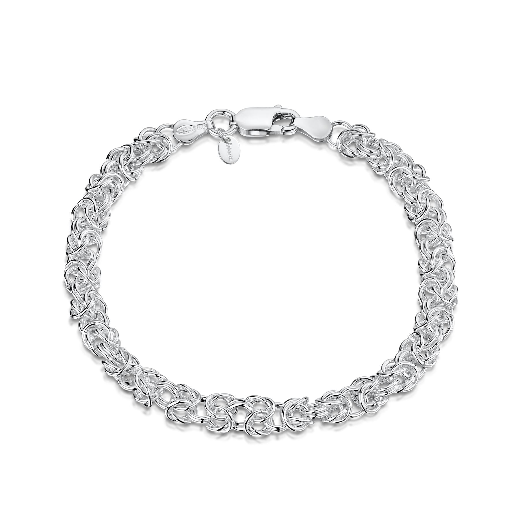 Amberta-Genuine-Real-925-Sterling-Silver-Chain-Bracelet-for-Women-from-Italy miniature 22
