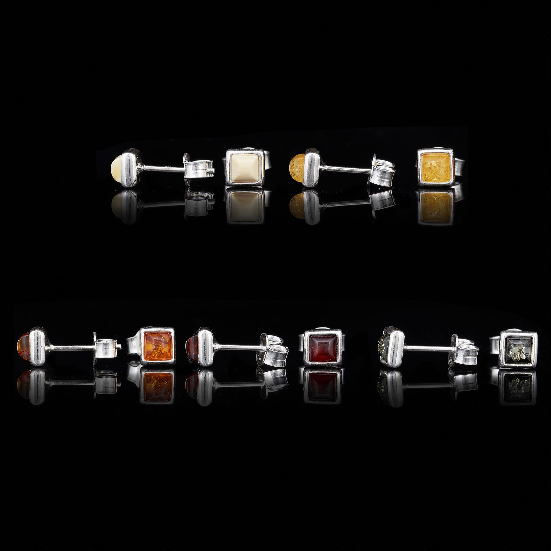Amberta-Genuine-925-Sterling-Silver-Earrings-with-Natural-Baltic-Amber-Gemstone thumbnail 64