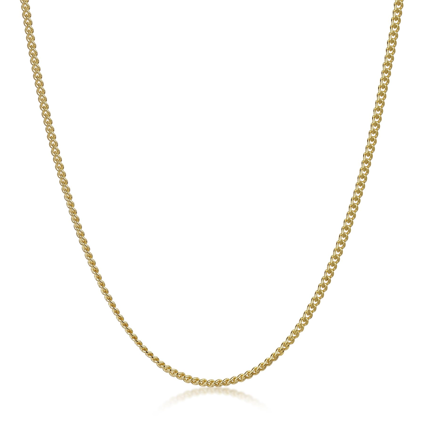 Amberta-Genuine-Gold-Plated-on-Real-925-Sterling-Silver-Necklace-Chain-Italy miniatura 31