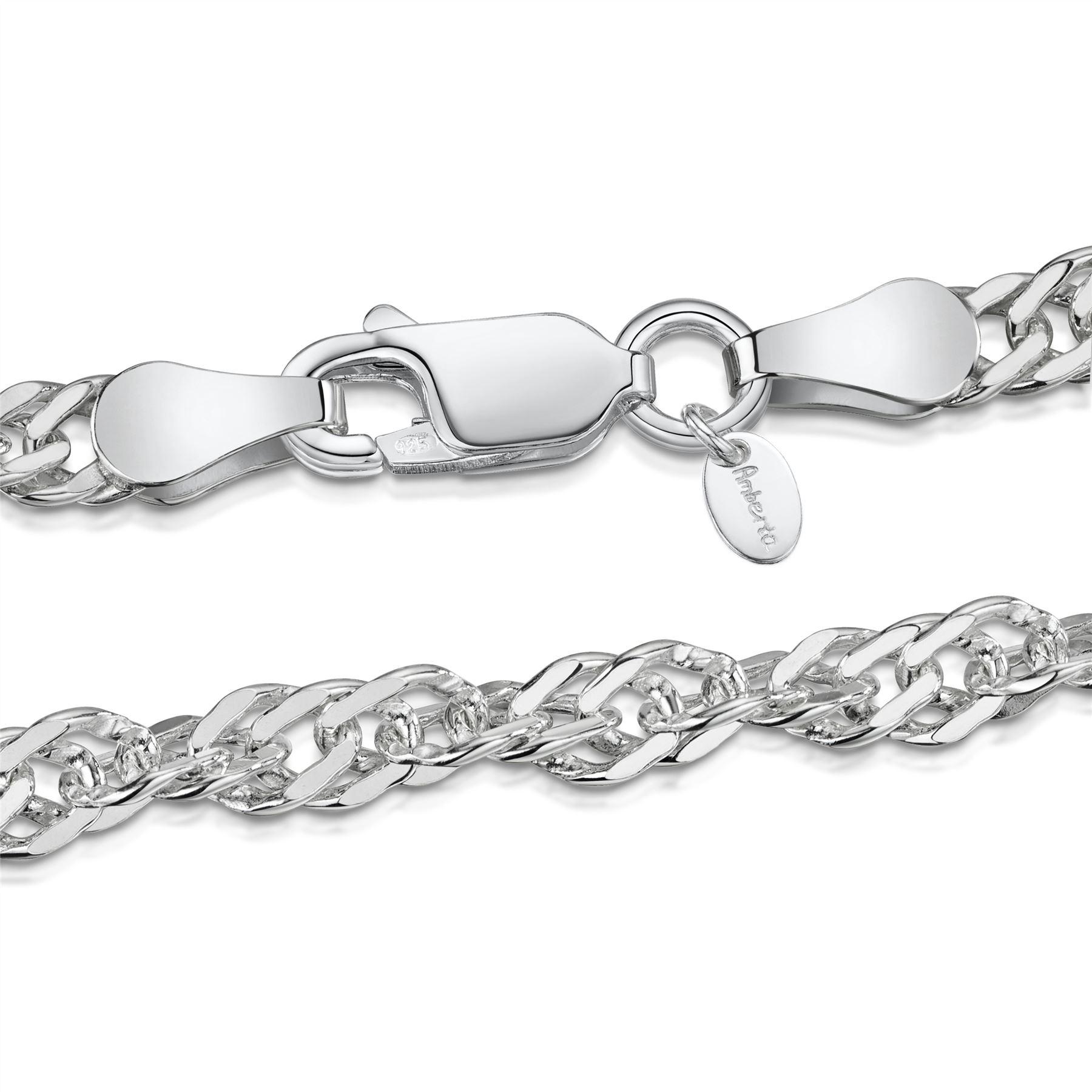 Amberta-Jewelry-925-Sterling-Silver-Adjustable-Anklet-Foot-Bracelet-for-Women miniature 47