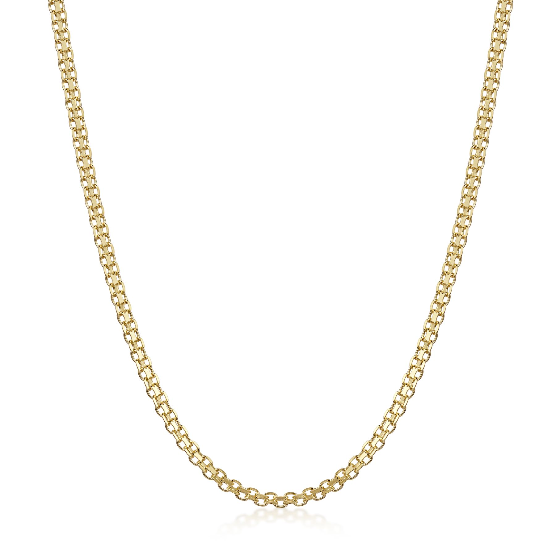 Amberta-Genuine-Gold-Plated-on-Real-925-Sterling-Silver-Necklace-Chain-Italy miniatura 40