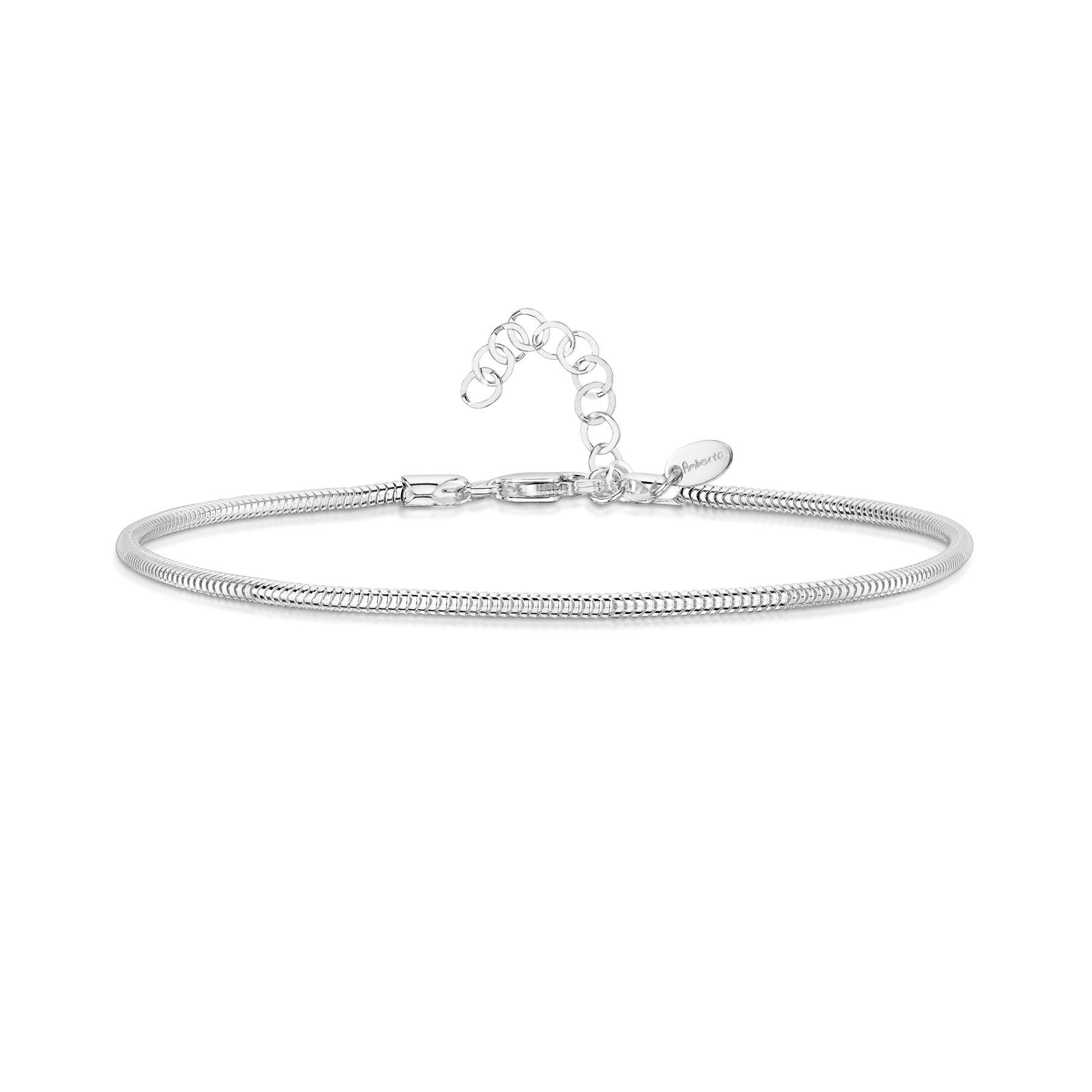 Amberta-Jewelry-925-Sterling-Silver-Adjustable-Anklet-Foot-Bracelet-for-Women miniature 29
