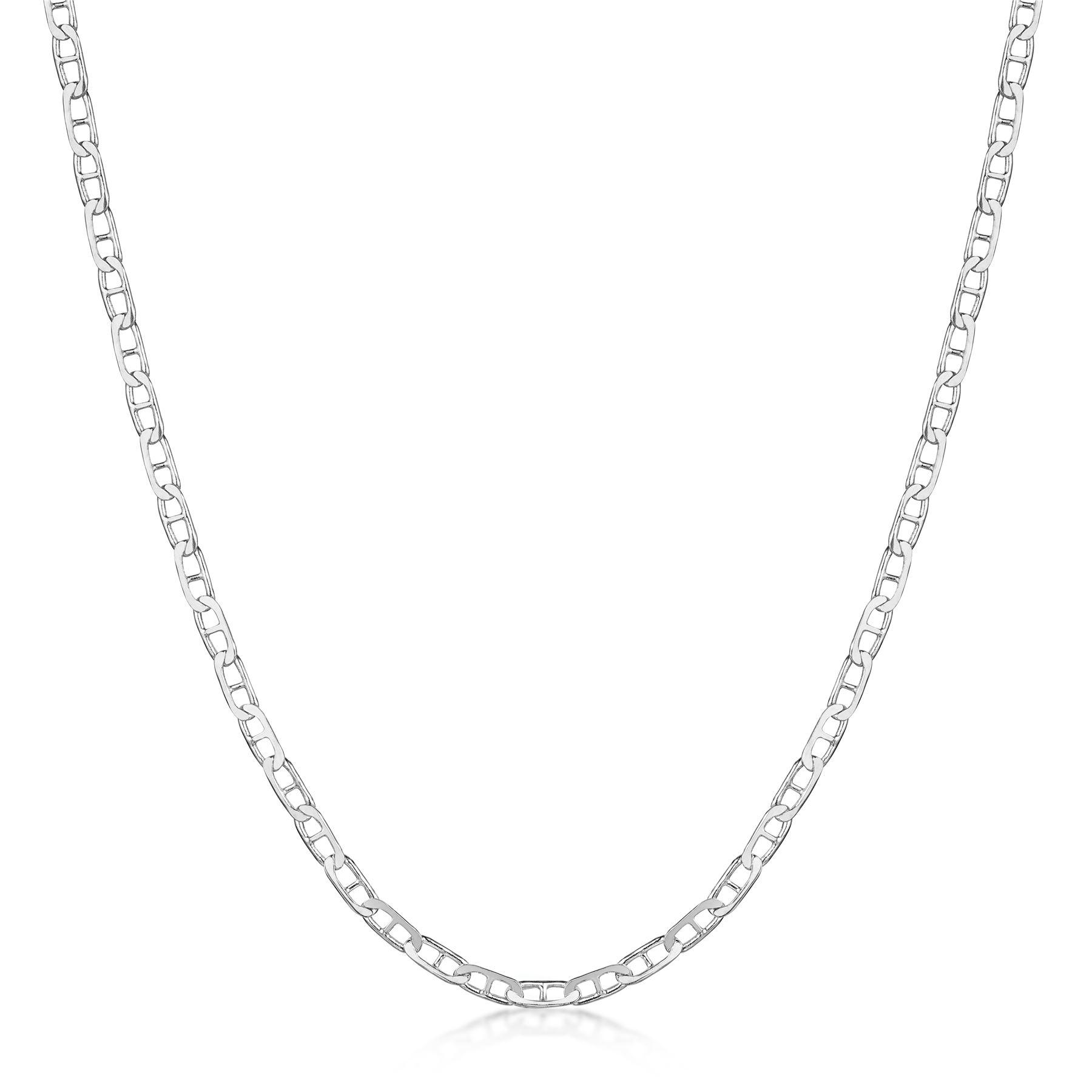 Amberta-Collar-en-Plata-De-Ley-925-Autentica-Cadena-para-Mujer-y-Hombre-Italiana miniatura 98
