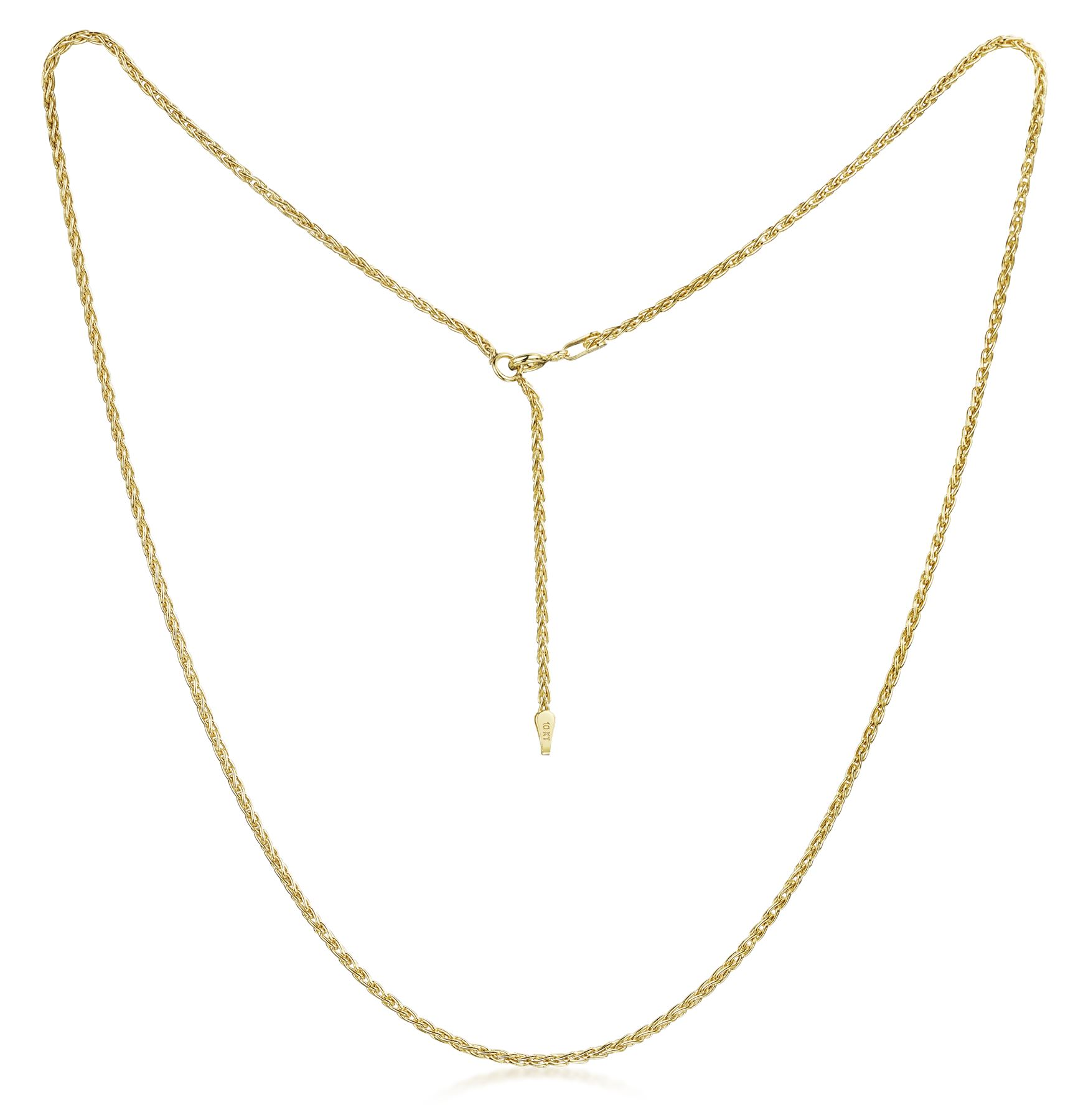 Amberta-Genuine-Solid-10k-Gold-Chain-Adjustable-Necklace-for-Women-and-Men thumbnail 16