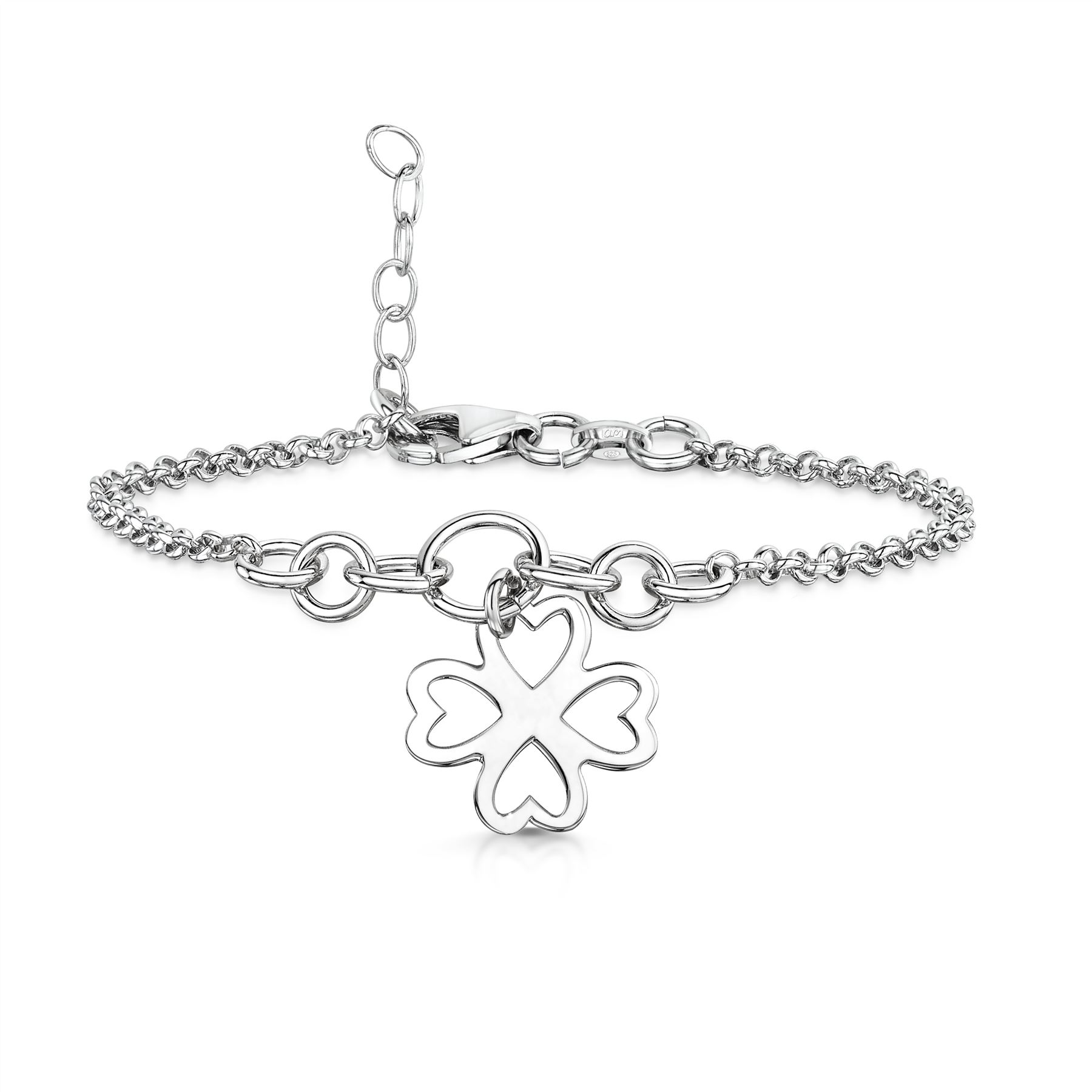 Amberta-Jewelry-925-Sterling-Silver-Adjustable-Anklet-for-Women-Made-in-Italy miniature 57