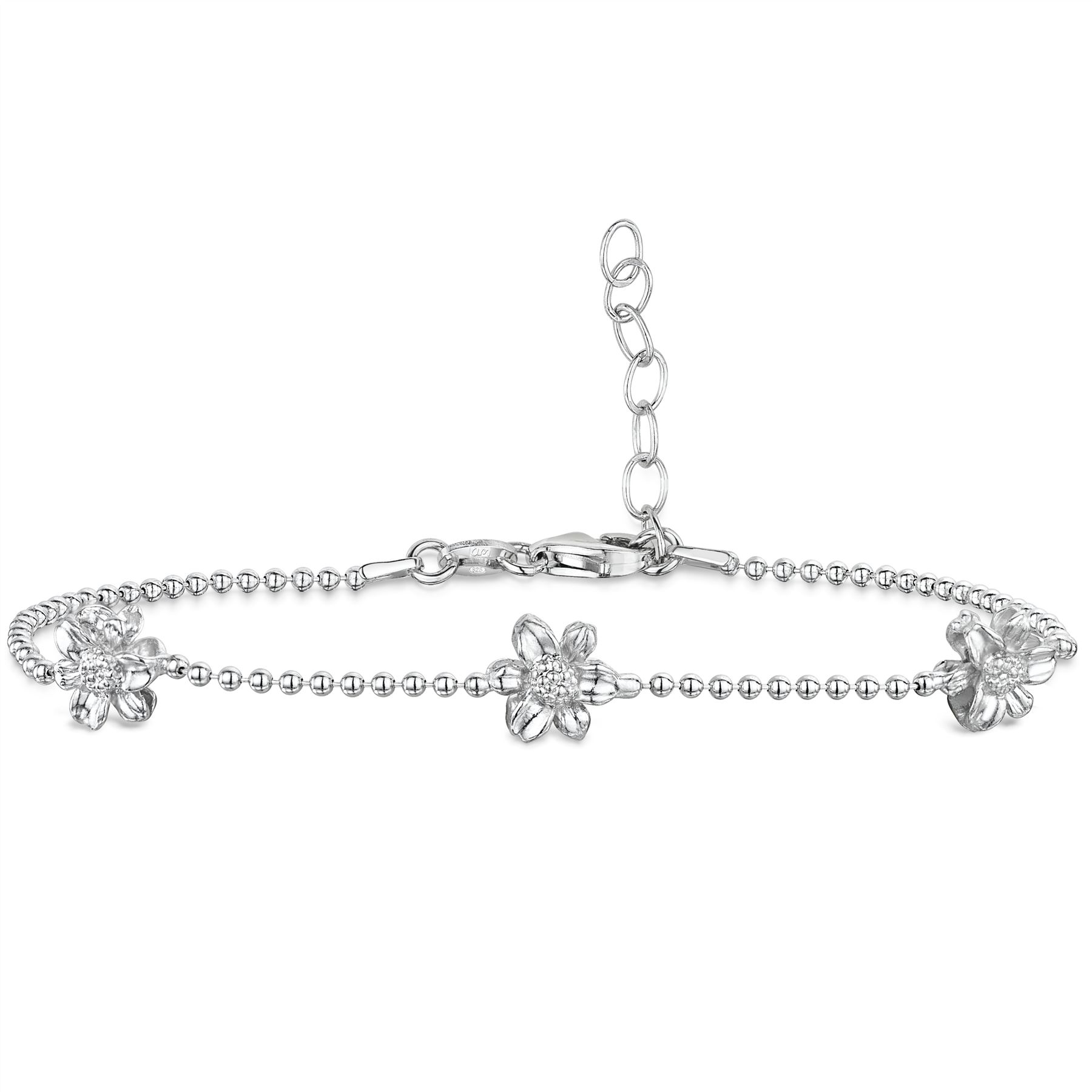 Amberta-Jewelry-925-Sterling-Silver-Adjustable-Anklet-for-Women-Made-in-Italy miniature 30