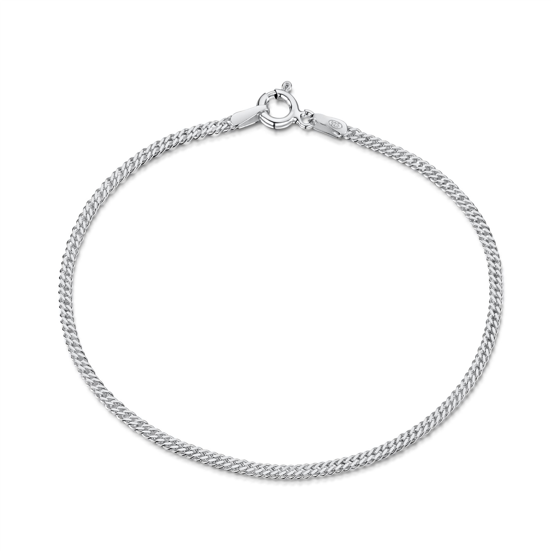 Amberta-Jewelry-Genuine-925-Sterling-Silver-Bracelet-Bangle-Chain-Made-in-Italy thumbnail 48