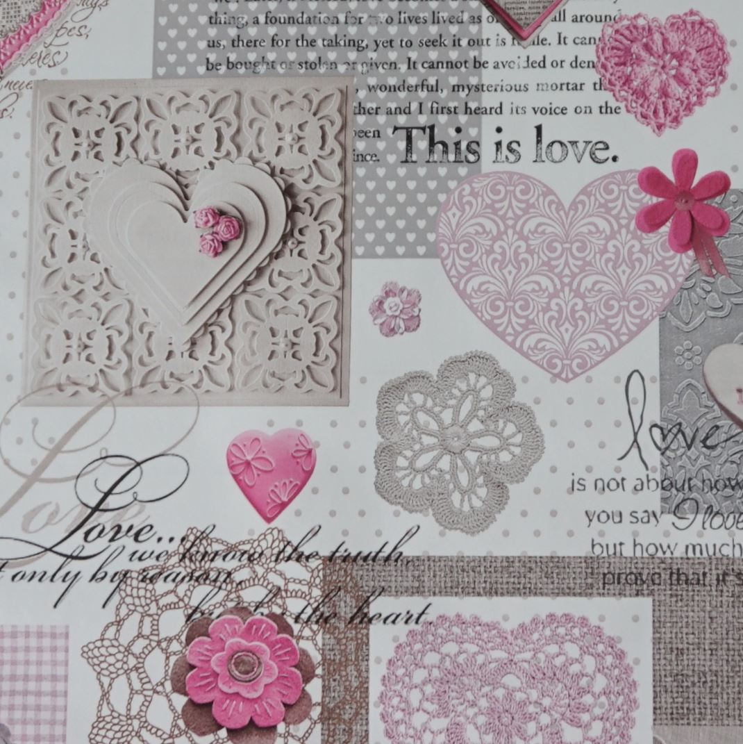 White shabby chic love heart lace floral pvc fabric 2 for Tissu shabby chic