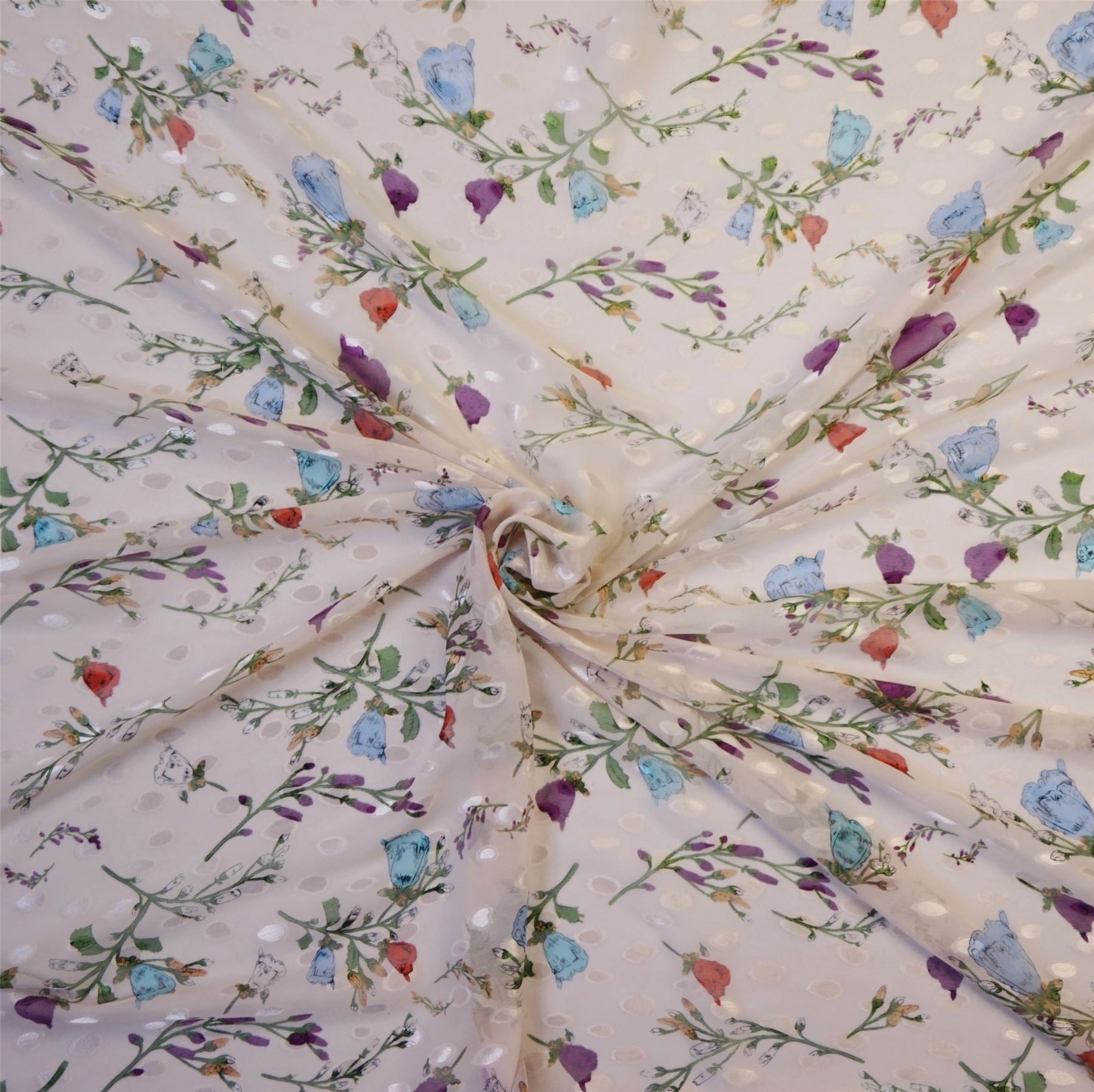 Tulle net lace Single flower Turquoise Approx 2.5 inch wide Per HALF metre
