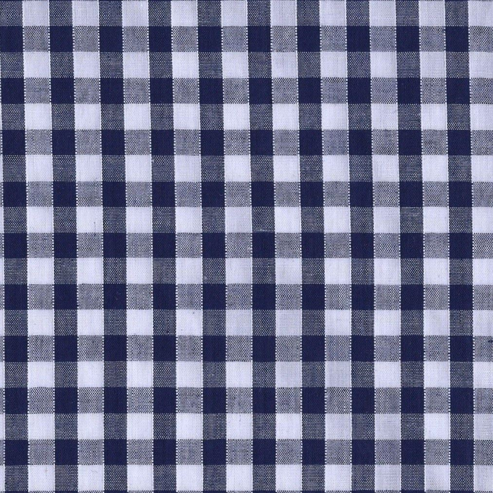 Metre New Gingham Fabric in Black and White Corded Polycotton 3 Sizes