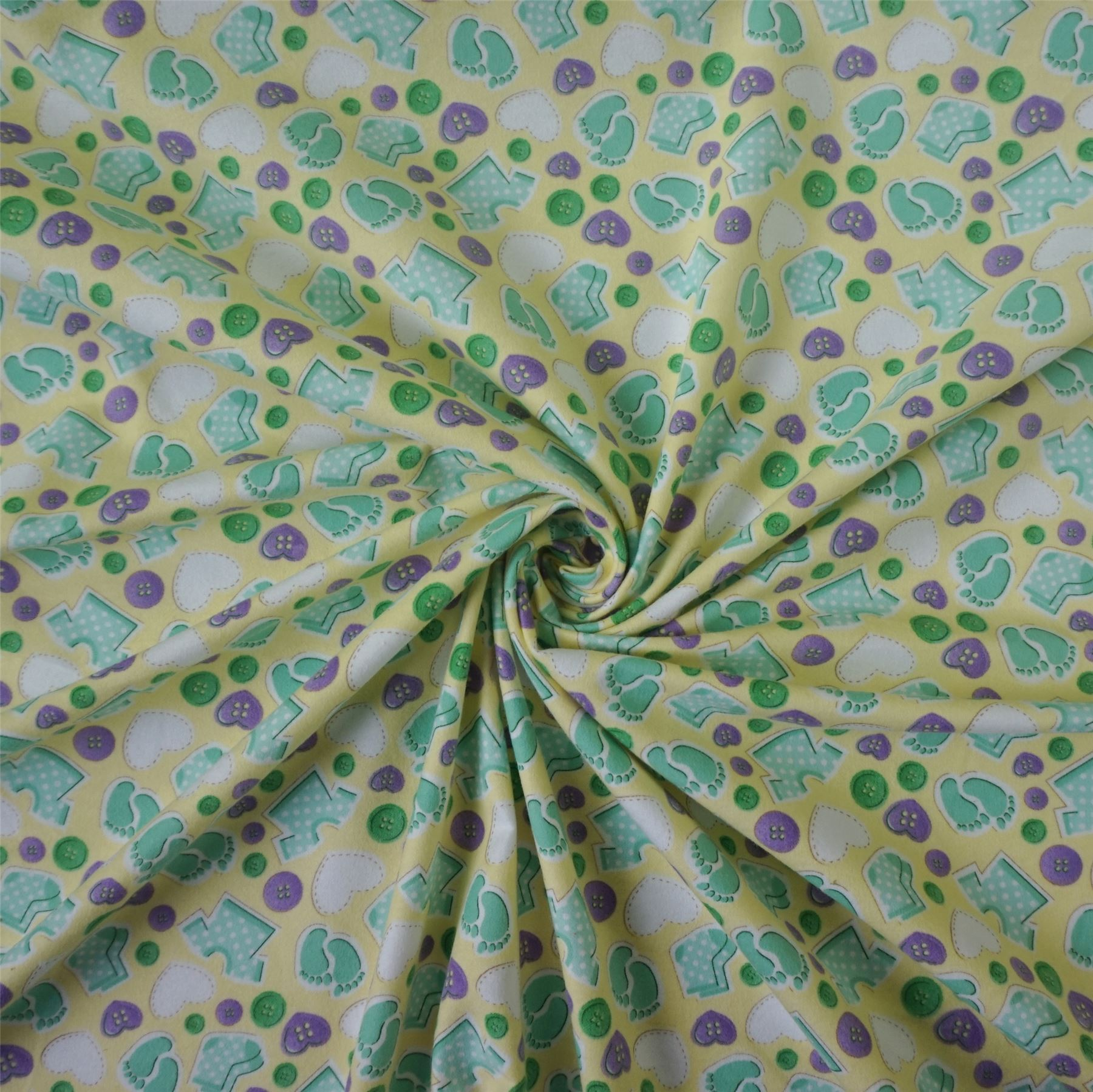 100 cotton winceyette flannelette fabric nursery baby for Baby fabric uk