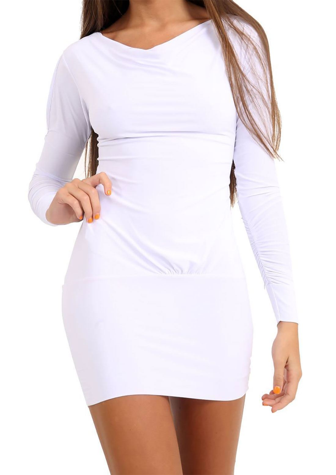 Mesdames Longue Fente Manche Avec Ceinture liens robe femme stretch stretch stretch Parti Mini Robe ab7570